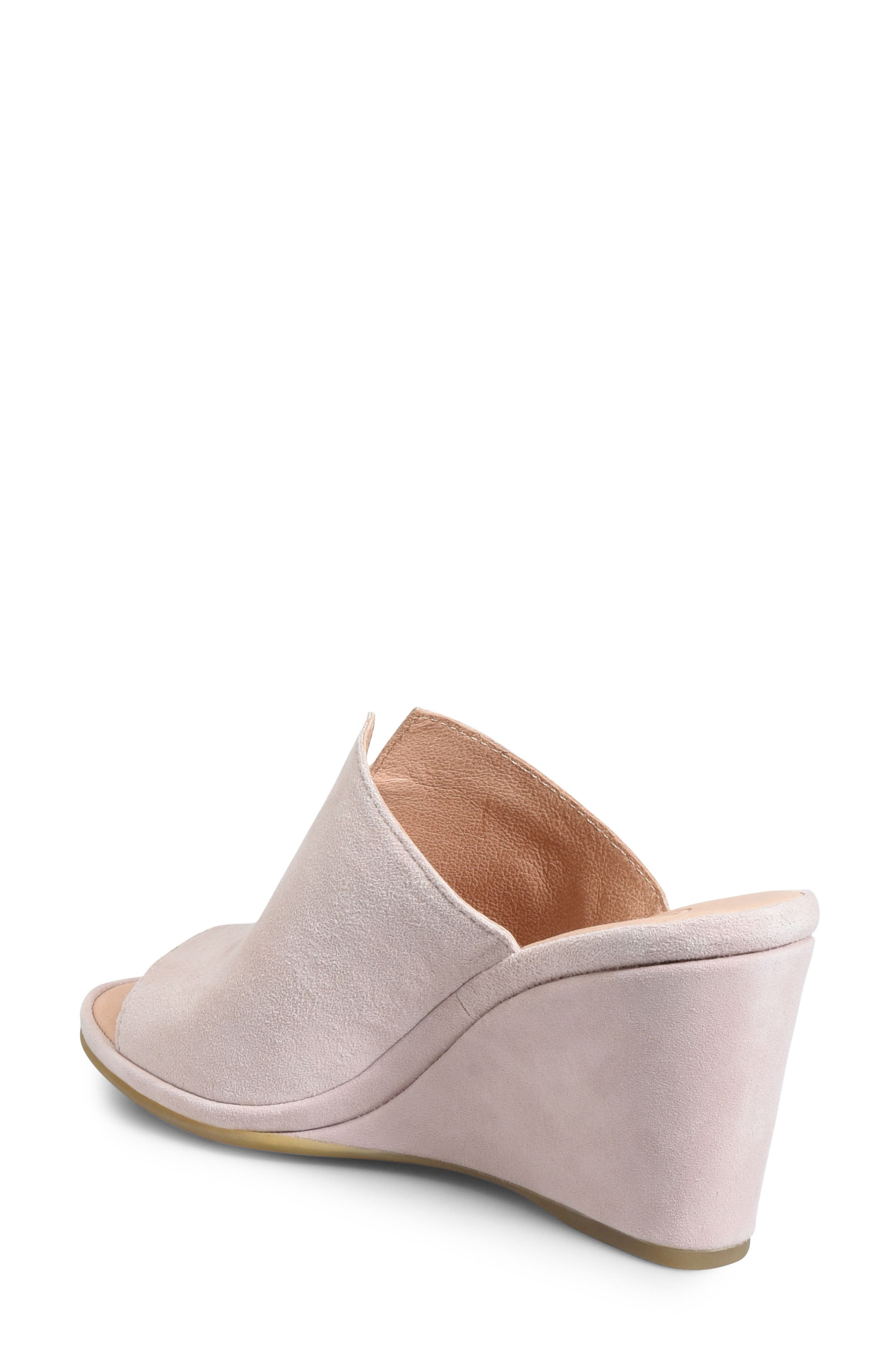 ONO, Hannah Wedge Mule, Alternate thumbnail 2, color, LIGHT PINK SUEDE