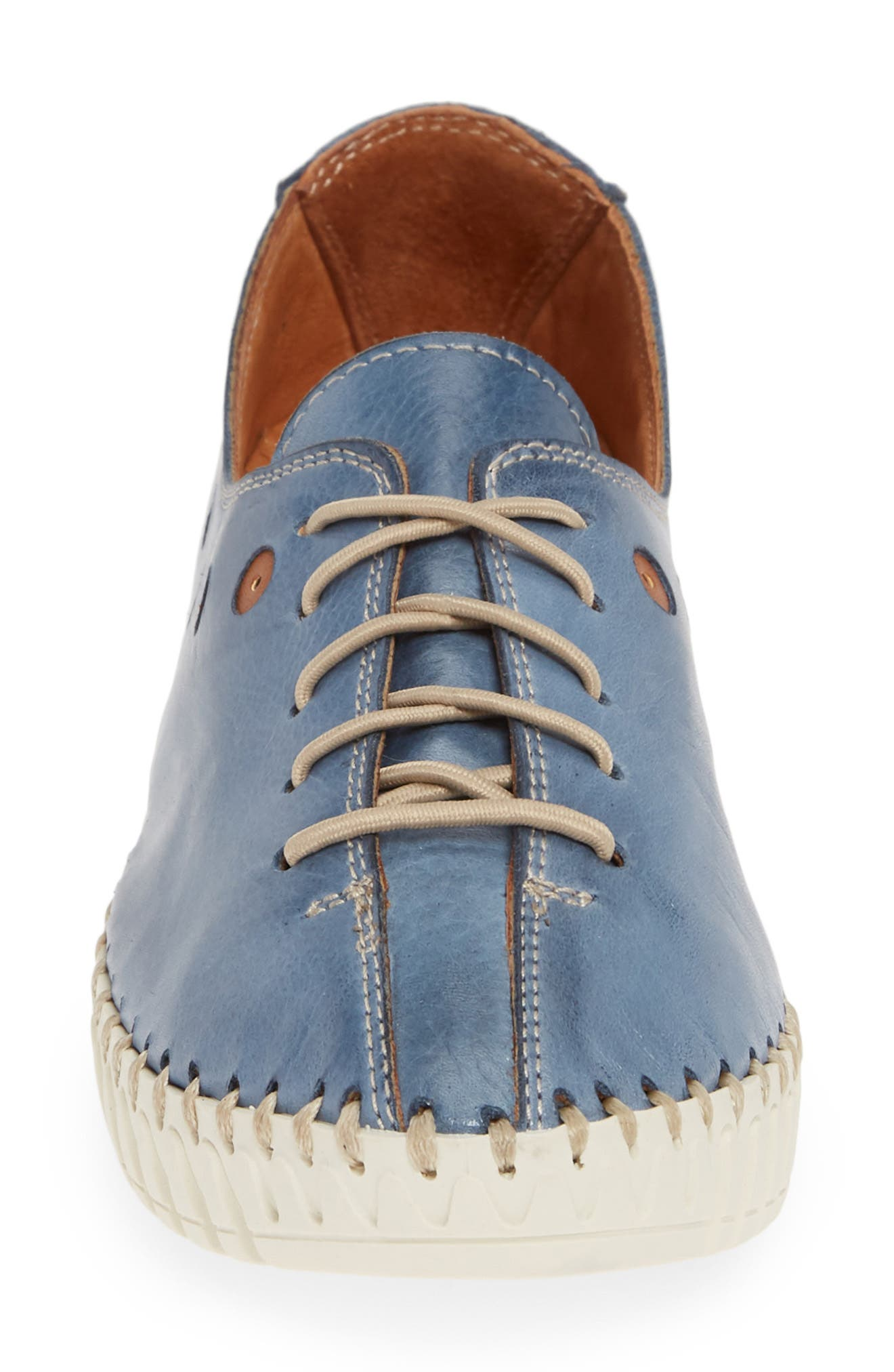 SHERIDAN MIA, Kyle Sneaker, Alternate thumbnail 4, color, JEANS LEATHER