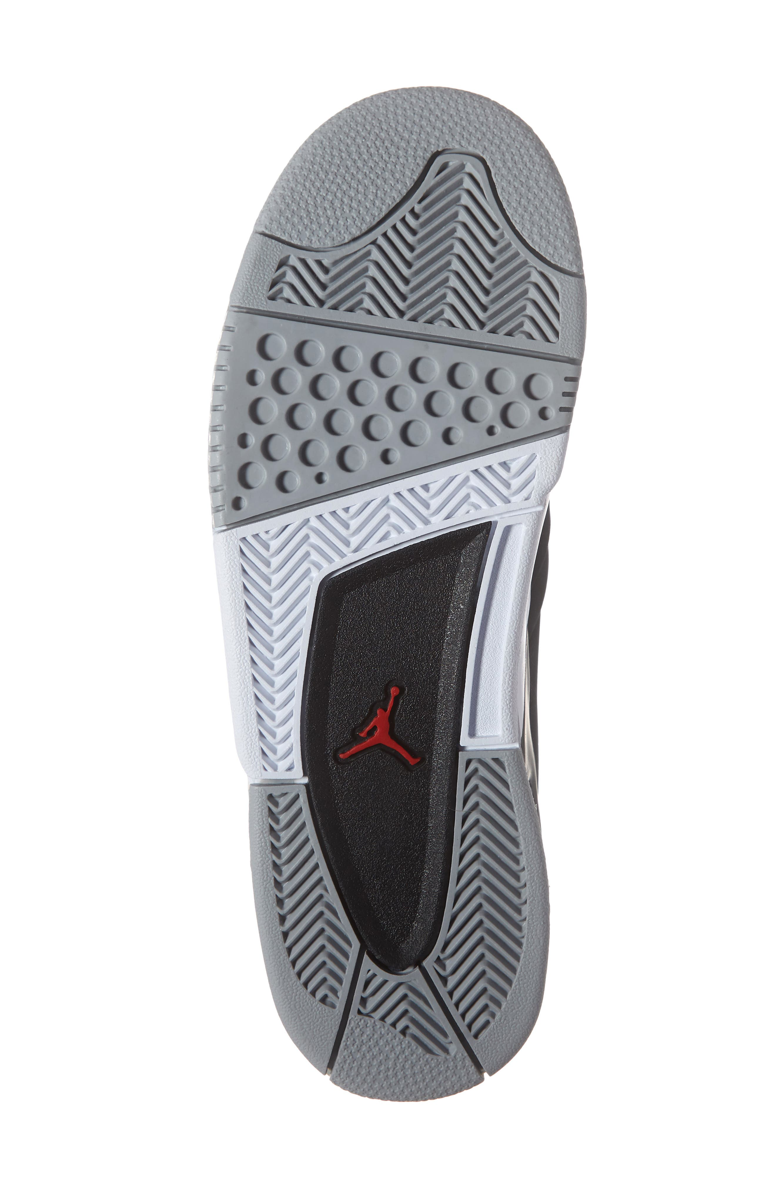 JORDAN, Big Fund Mid Top Basketball Sneaker, Alternate thumbnail 6, color, BLACK/ METALLIC SILVER-WHITE
