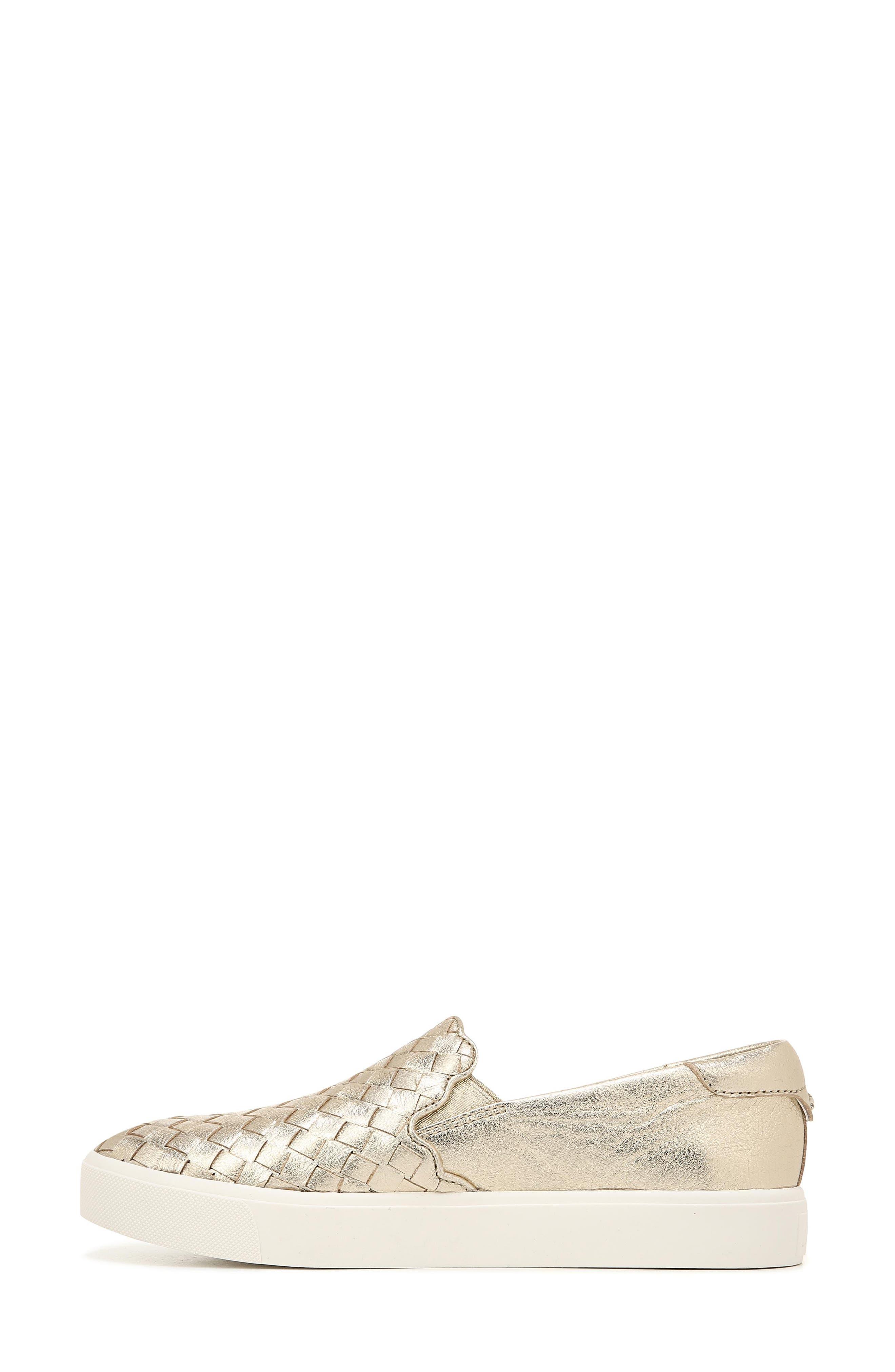 SAM EDELMAN, Eda Sneaker, Alternate thumbnail 9, color, MOLTEN GOLD LEATHER