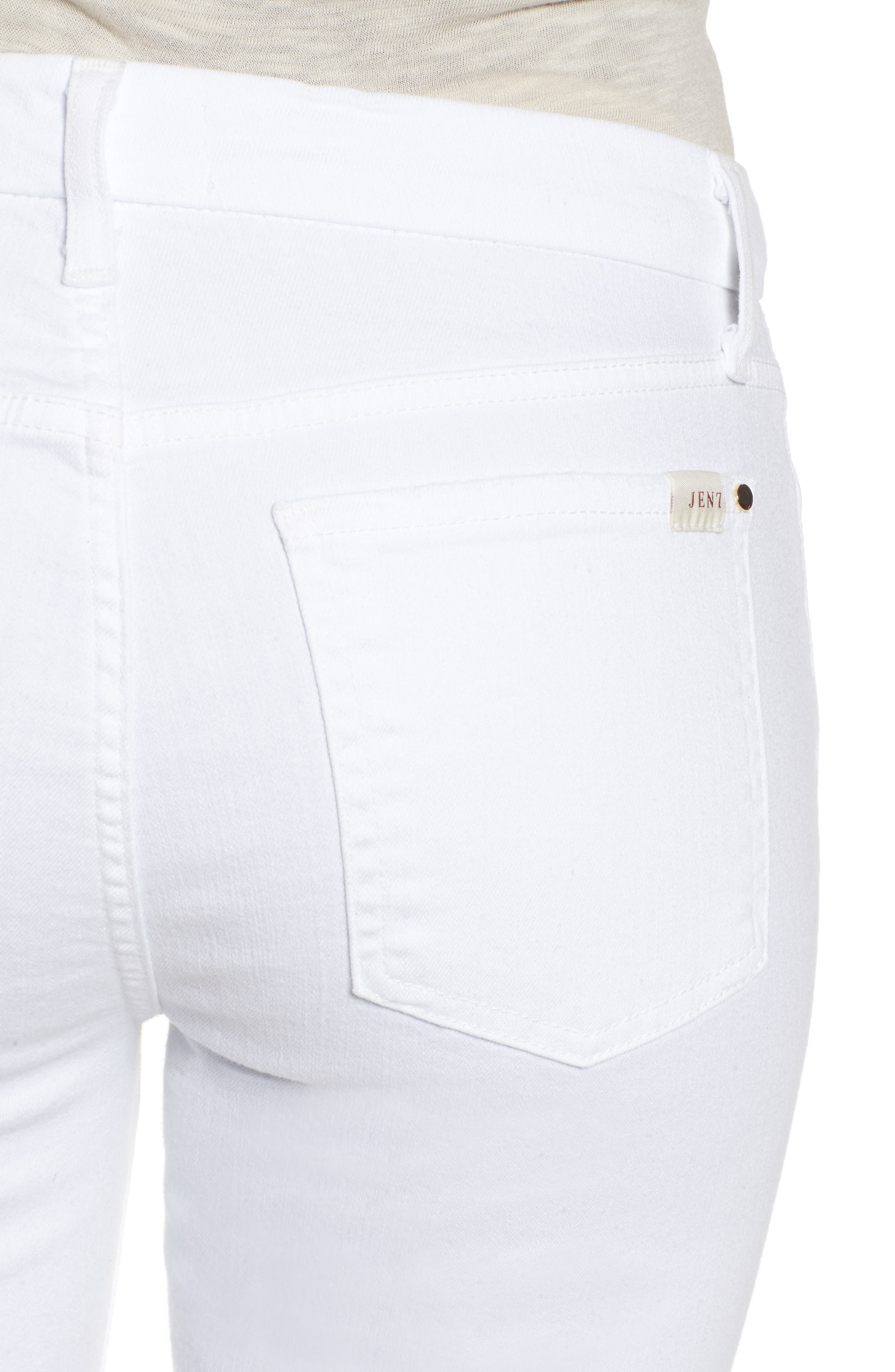 JEN7 BY 7 FOR ALL MANKIND, Ankle Skinny Jeans, Alternate thumbnail 4, color, WHITE 2