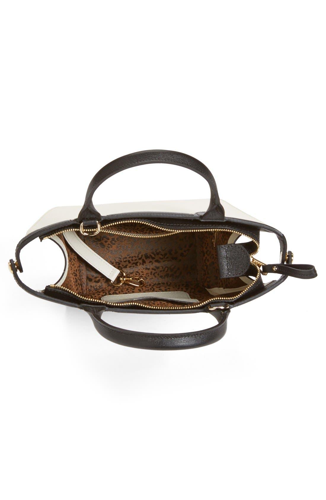 LONGCHAMP, 'Small Le Pliage - Heritage' Leather Handbag, Alternate thumbnail 6, color, 100