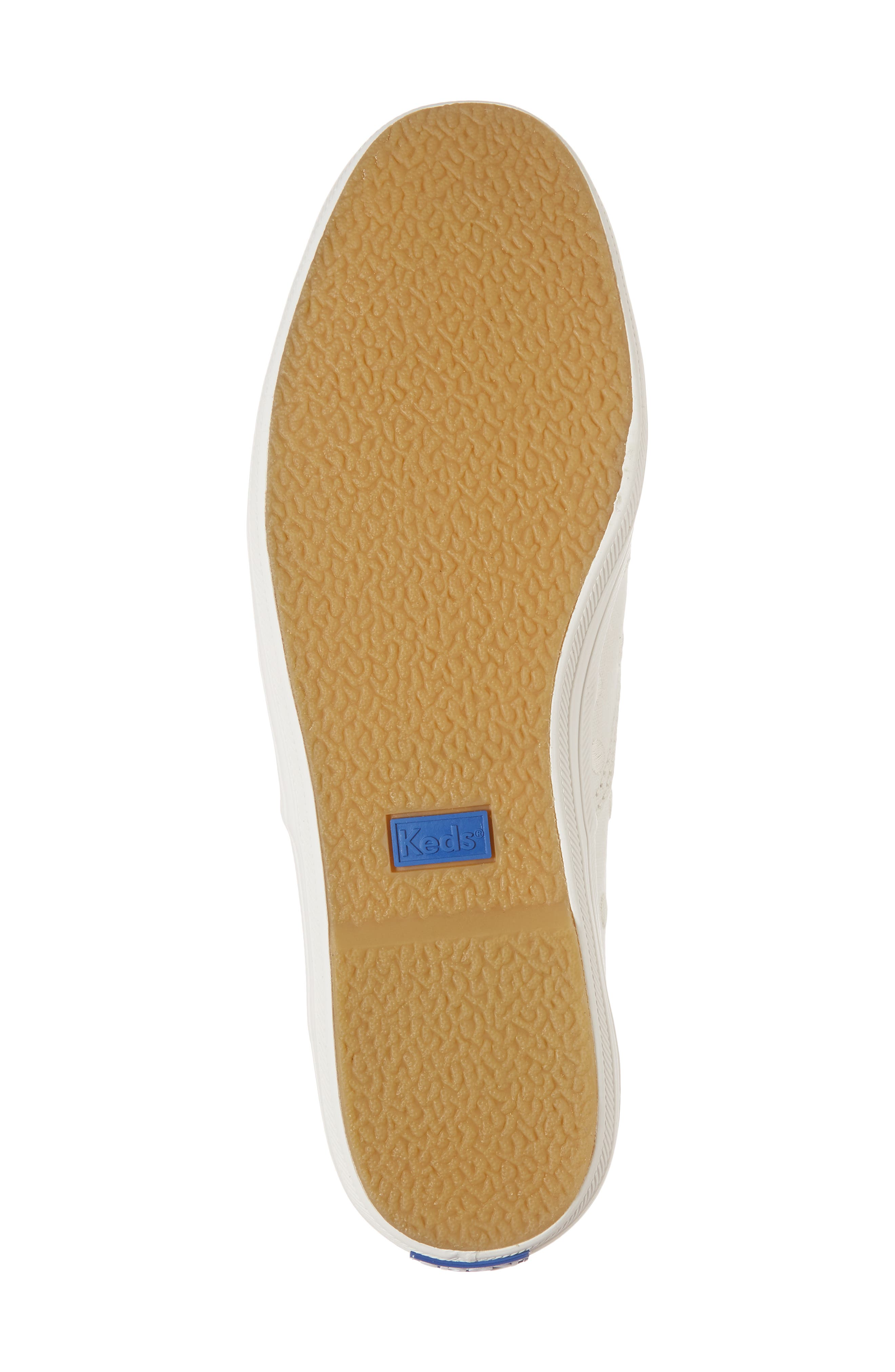KEDS<SUP>®</SUP> FOR KATE SPADE NEW YORK, champion dancing dot sneaker, Alternate thumbnail 6, color, WHITE