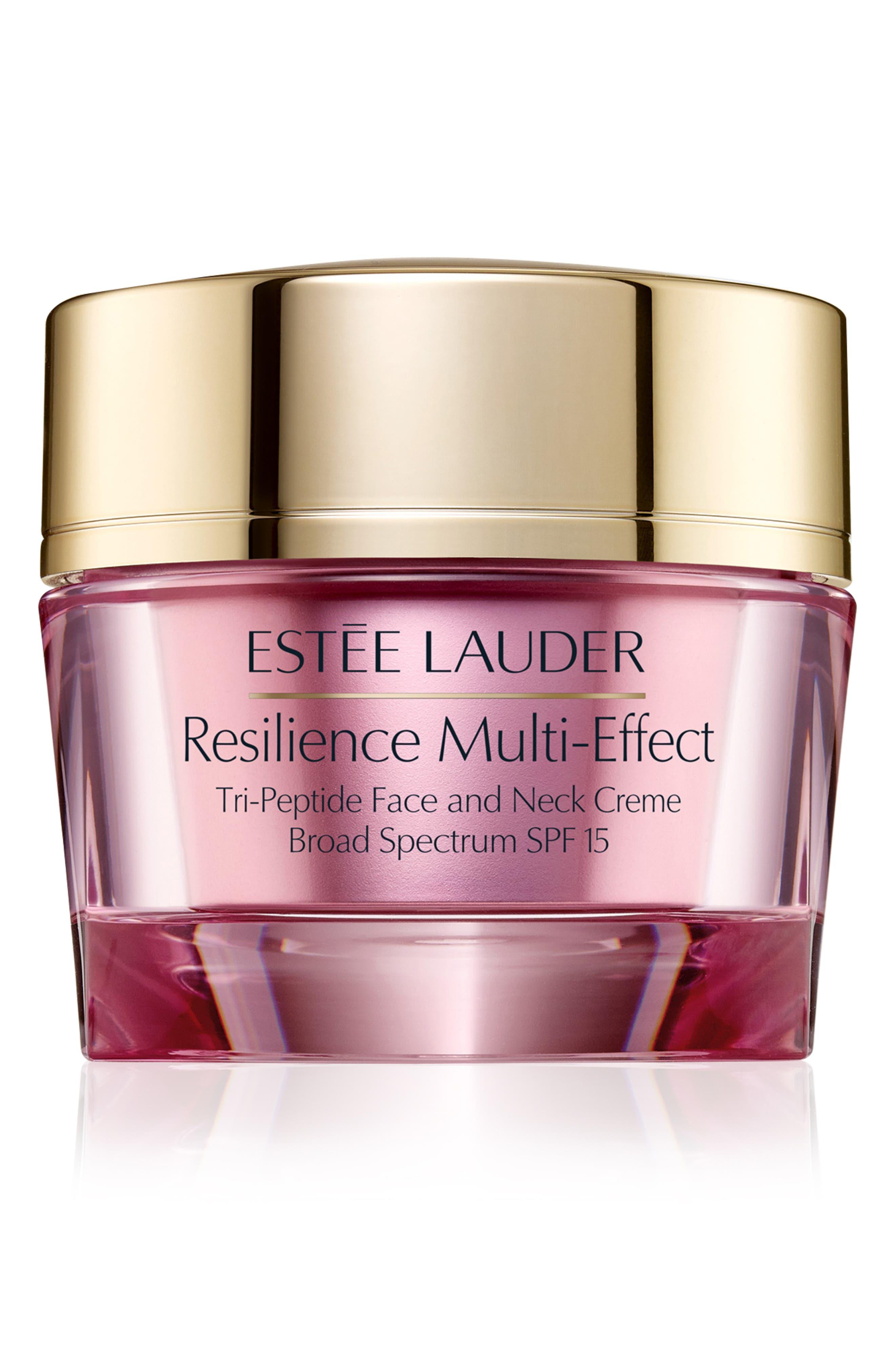 ESTÉE LAUDER, Resilience Multi-Effect Tri-Peptide Face and Neck Creme SPF 15 for Normal/Combination Skin, Main thumbnail 1, color, NO COLOR