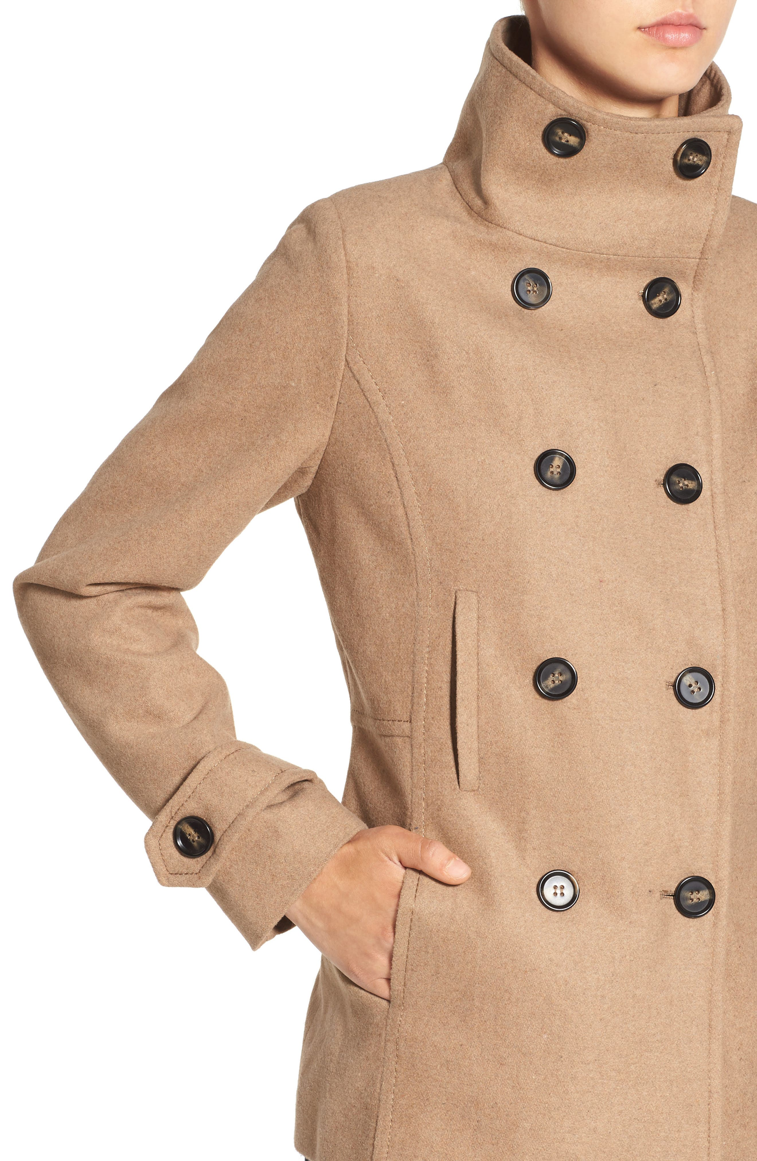 THREAD & SUPPLY, Double Breasted Peacoat, Alternate thumbnail 6, color, 200