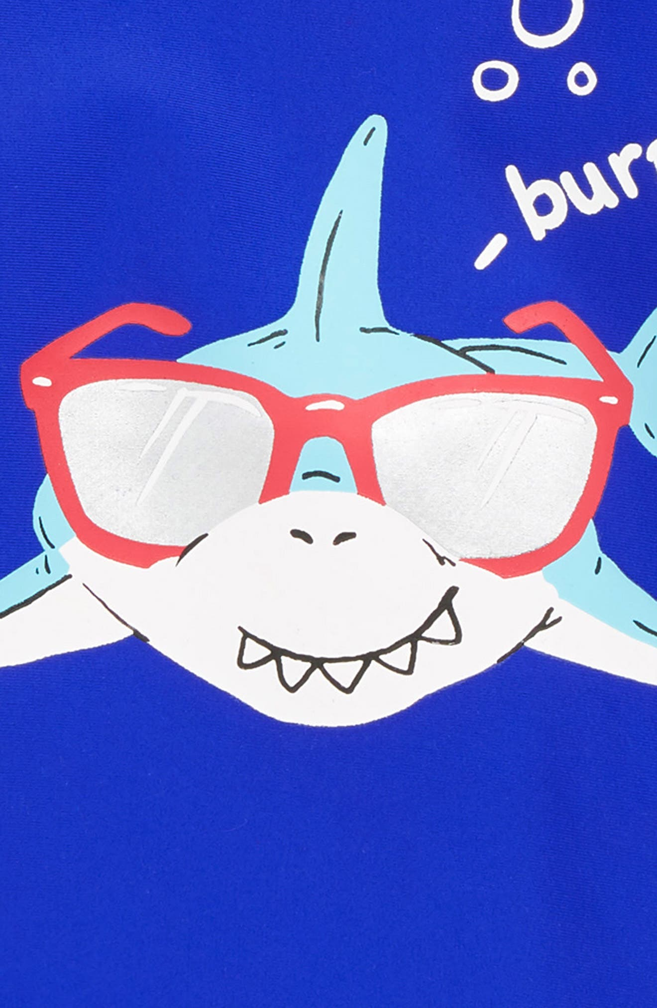 HATLEY, Cool Shark One-Piece Rashguard Swimsuit, Alternate thumbnail 2, color, BLUE