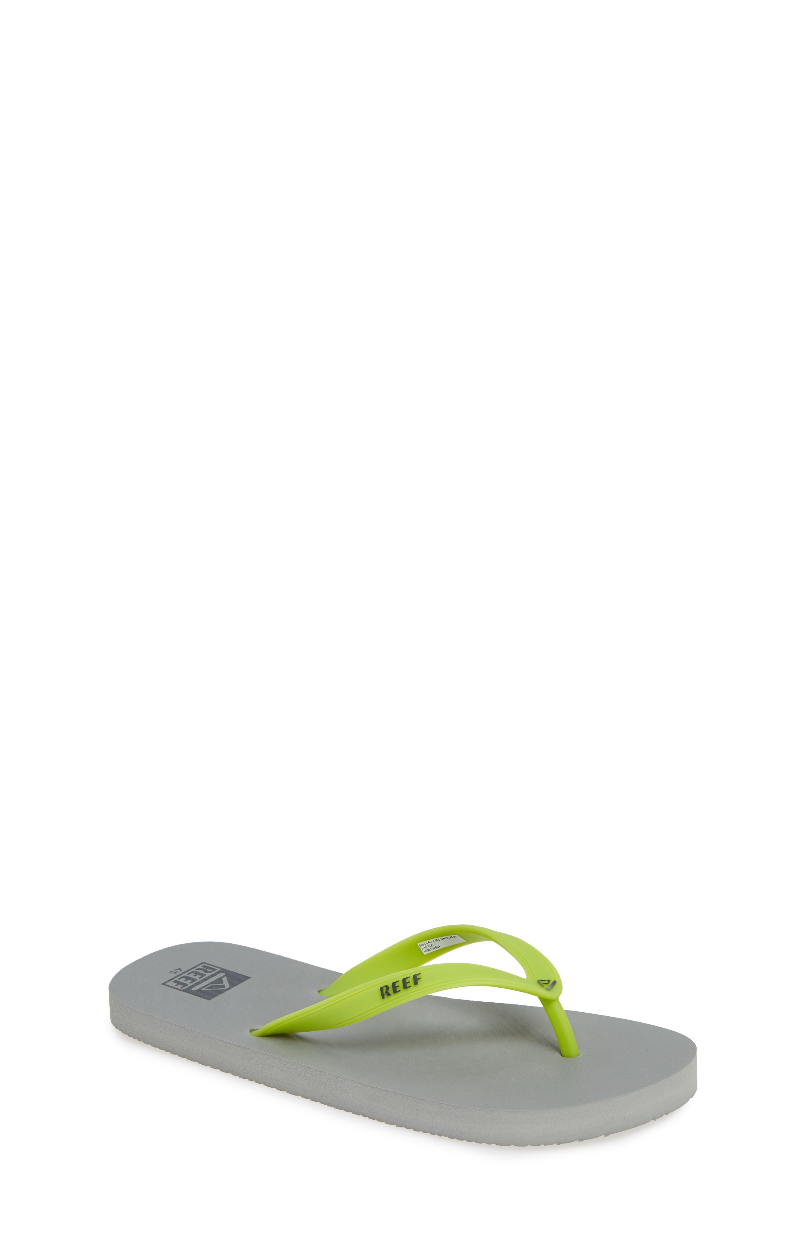 REEF, Switchfoot Flip Flop, Main thumbnail 1, color, GREY/ GREEN