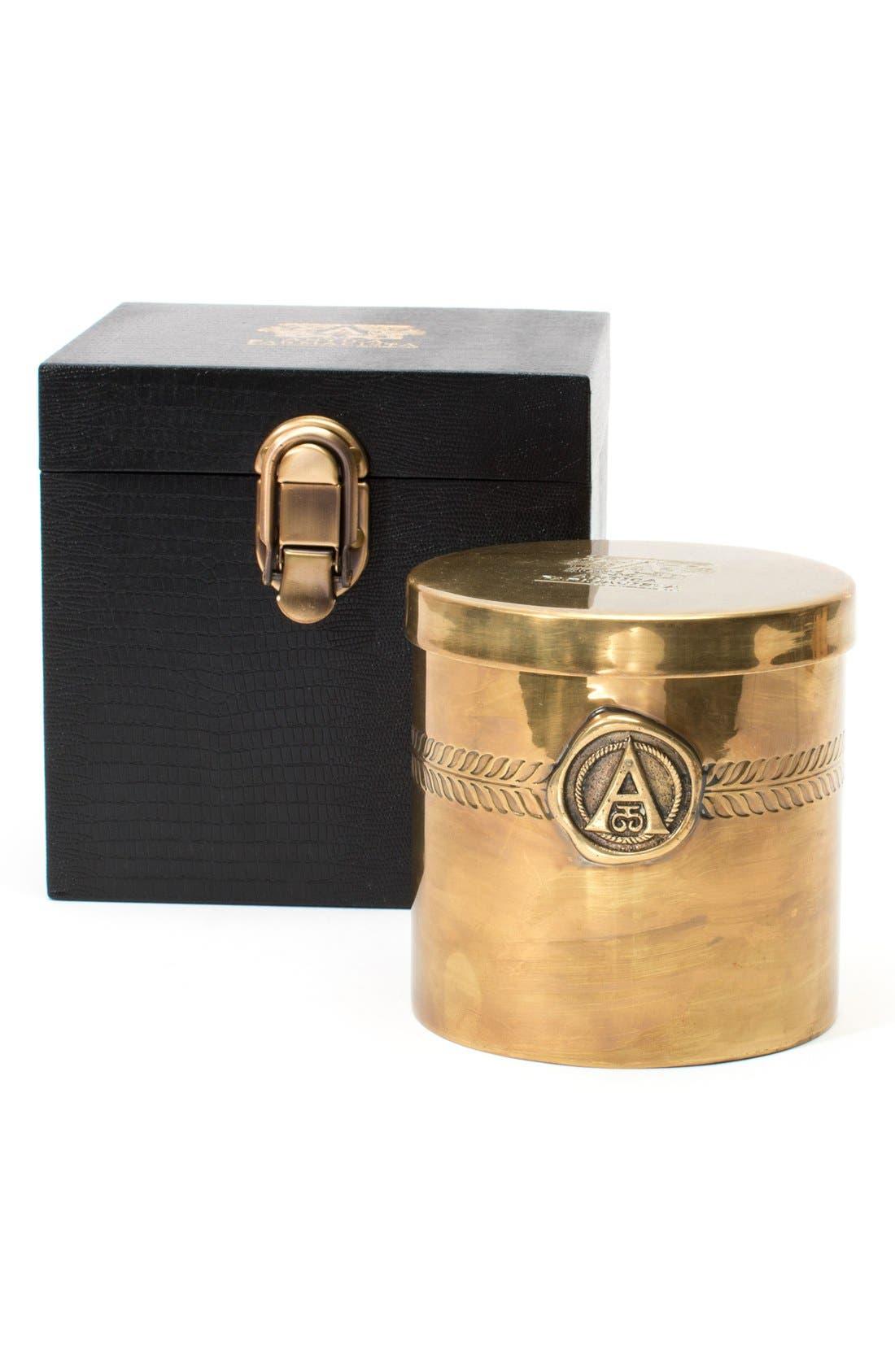 ANTICA FARMACISTA, Champagne Black Label Three-Wick Brass Candle, Main thumbnail 1, color, 000