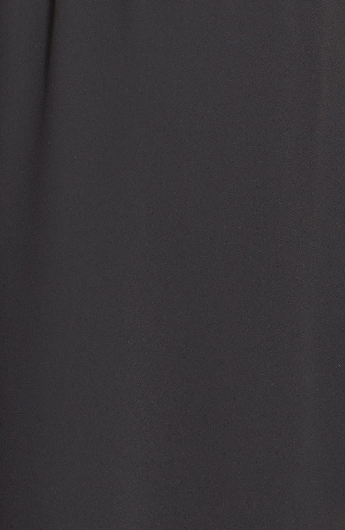 ---, Kendal' Surplice Faux Wrap Dress, Alternate thumbnail 4, color, 001