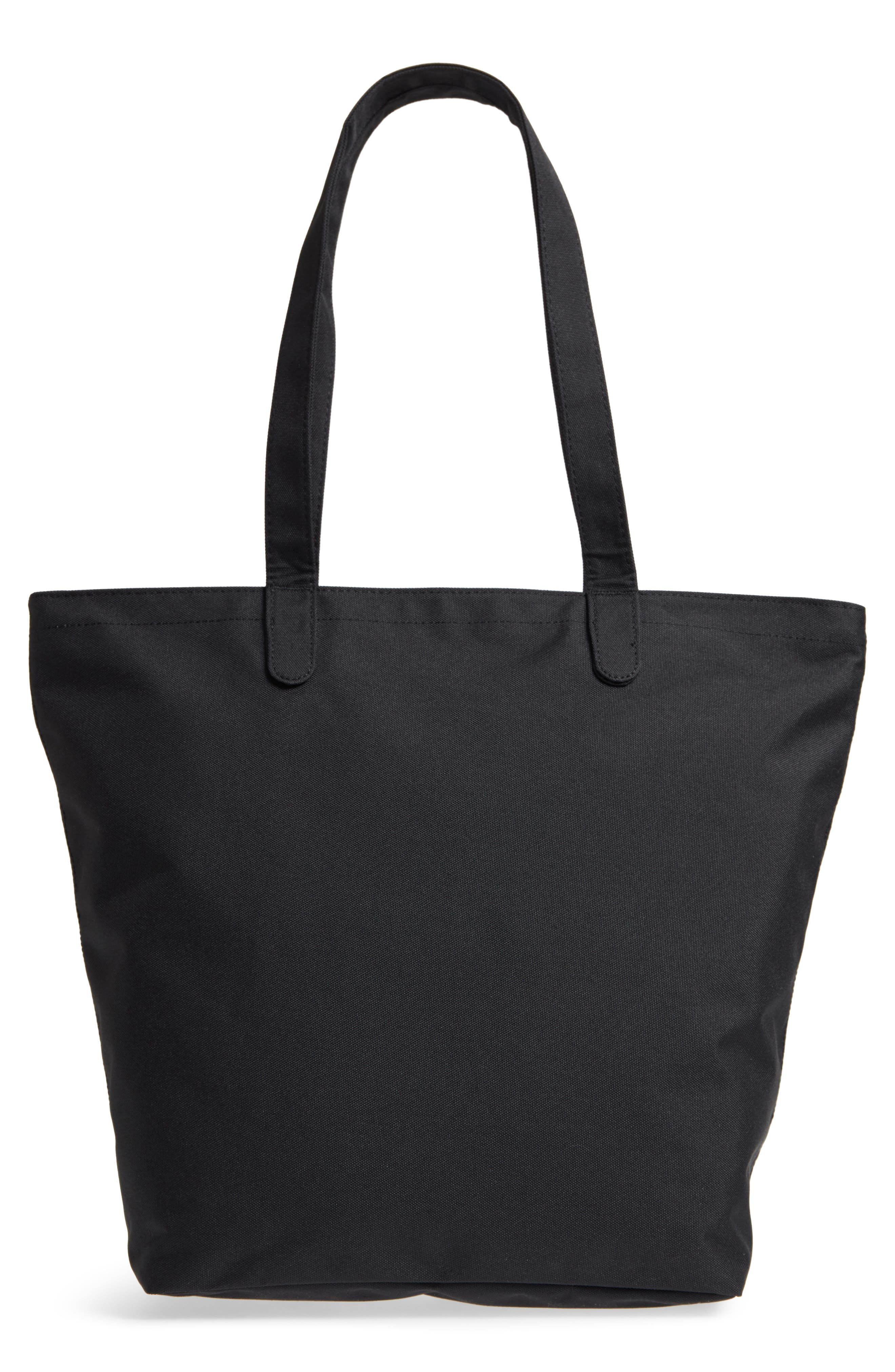 HERSCHEL SUPPLY CO., Mica Canvas Tote, Alternate thumbnail 4, color, BLACK