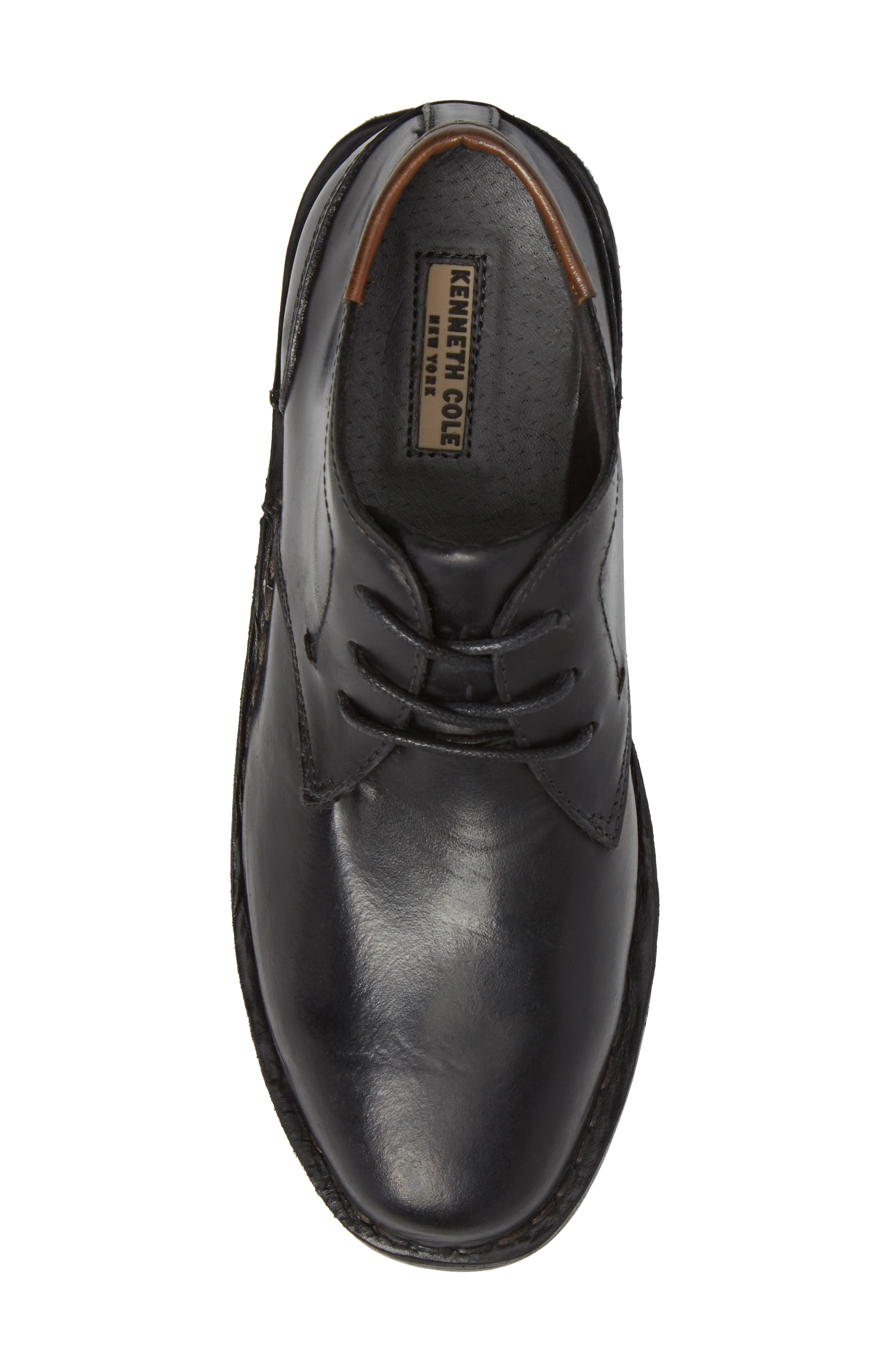 KENNETH COLE NEW YORK, Real Deal Chukka Boot, Alternate thumbnail 5, color, BLACK LEATHER