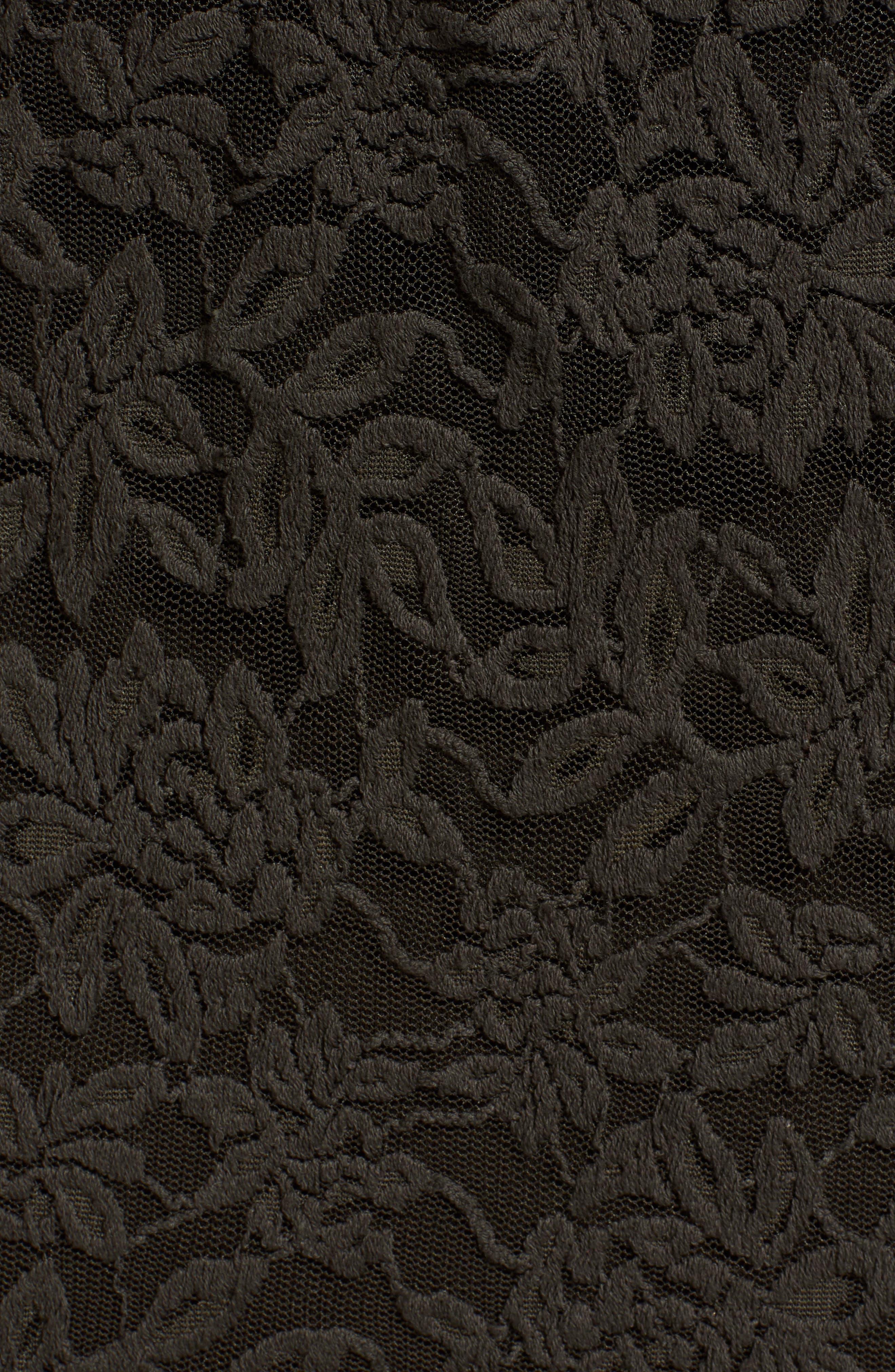ROSEMUNDE, Delicia Scallop Detail Cotton Blend Lace Dress, Alternate thumbnail 6, color, DARK FOREST