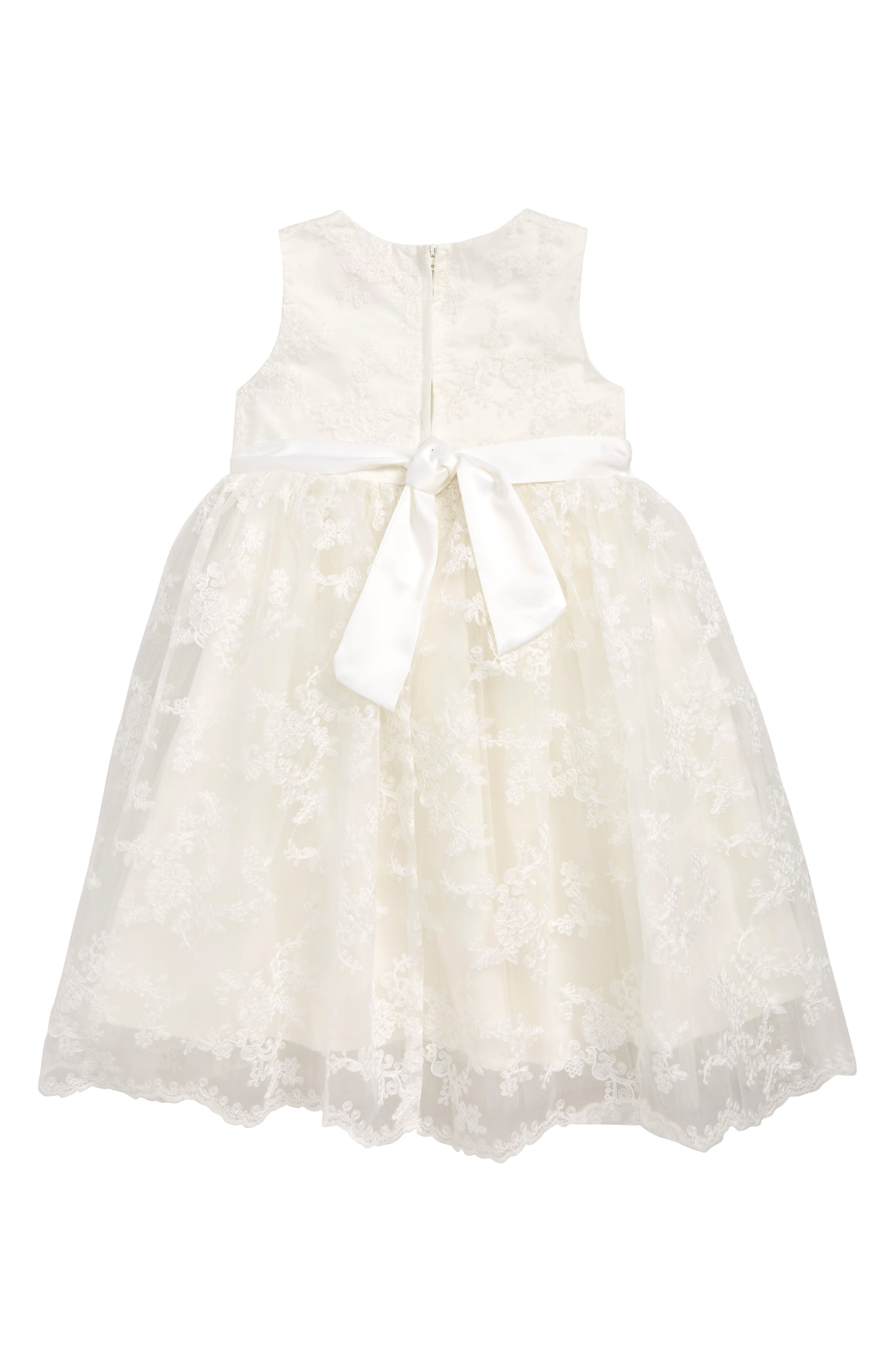 POPATU, Embroidered Dress, Main thumbnail 1, color, WHITE