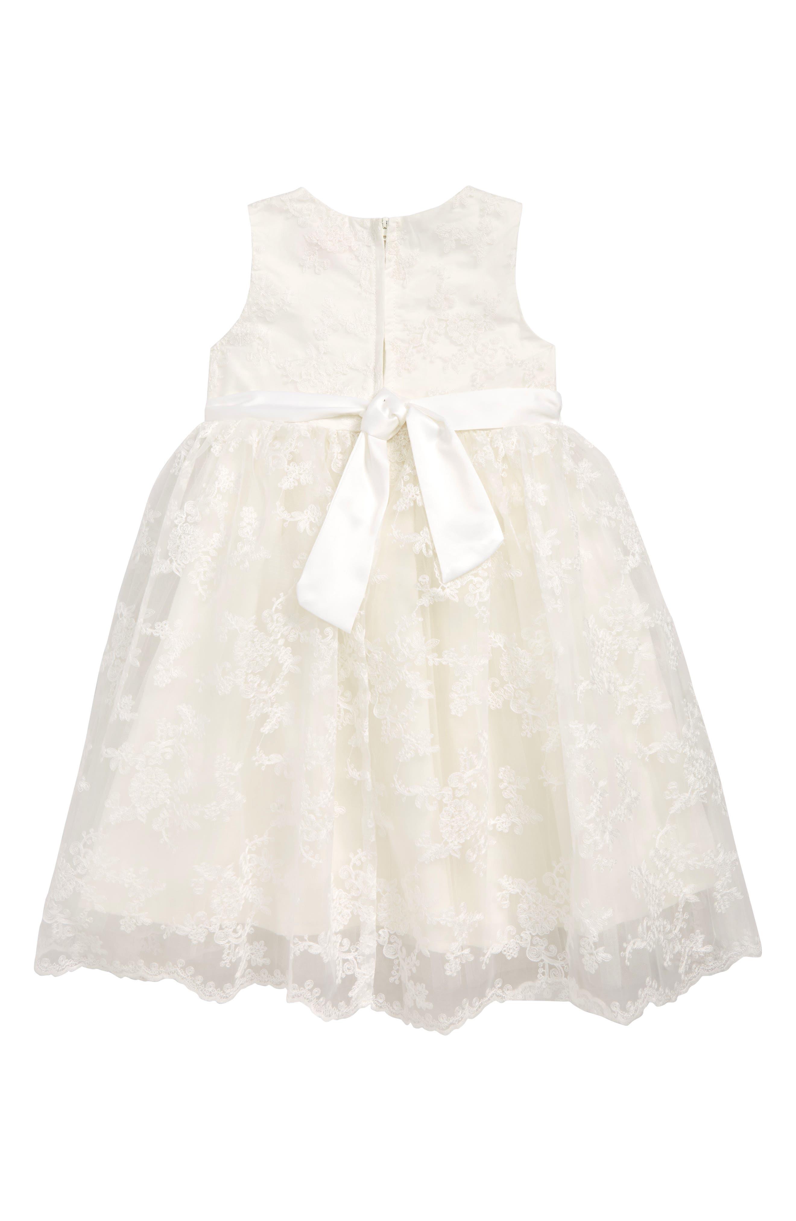 POPATU Embroidered Dress, Main, color, WHITE