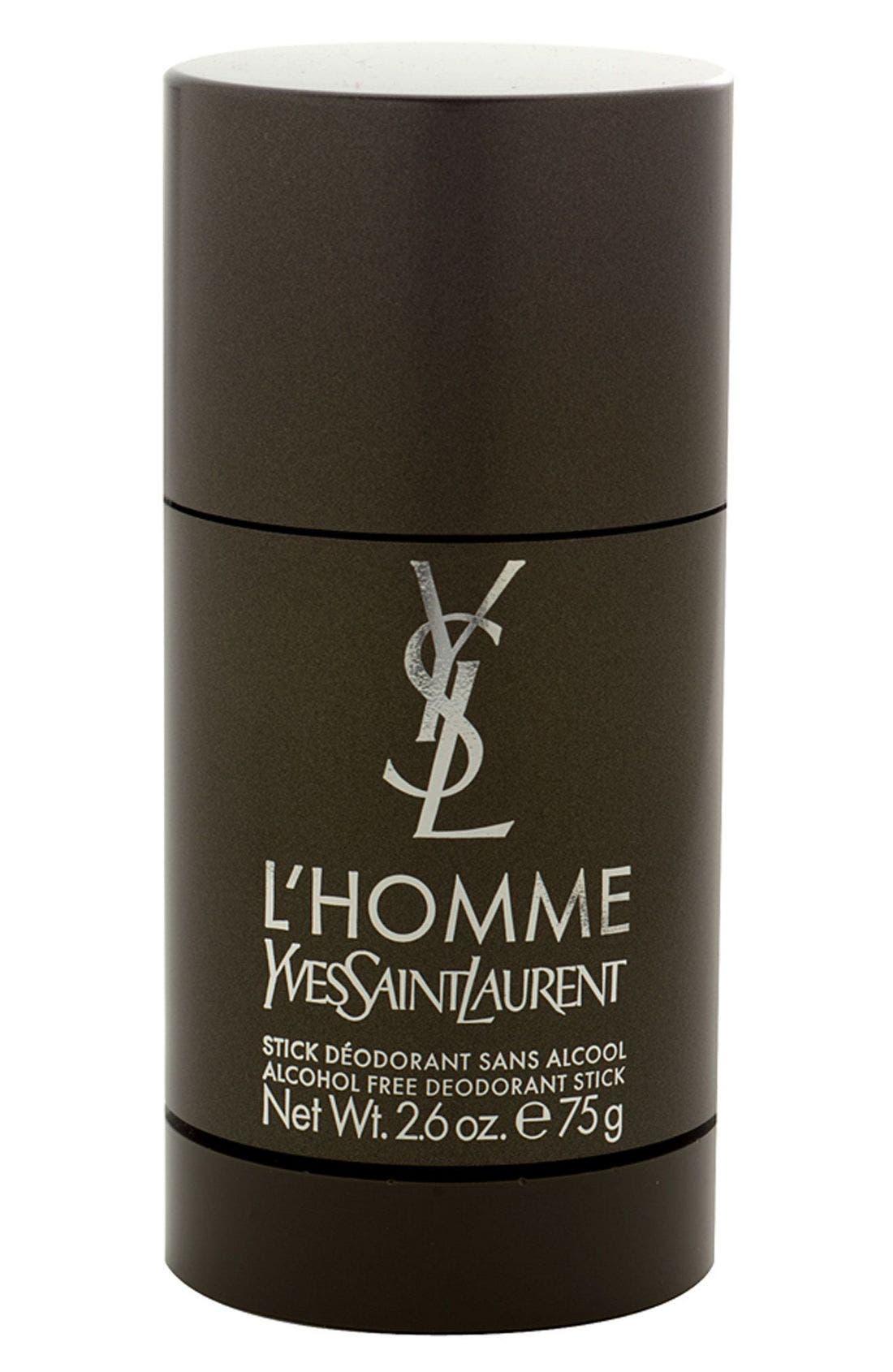 YVES SAINT LAURENT, 'L'Homme' Alcohol Free Deodorant Stick, Main thumbnail 1, color, NO COLOR