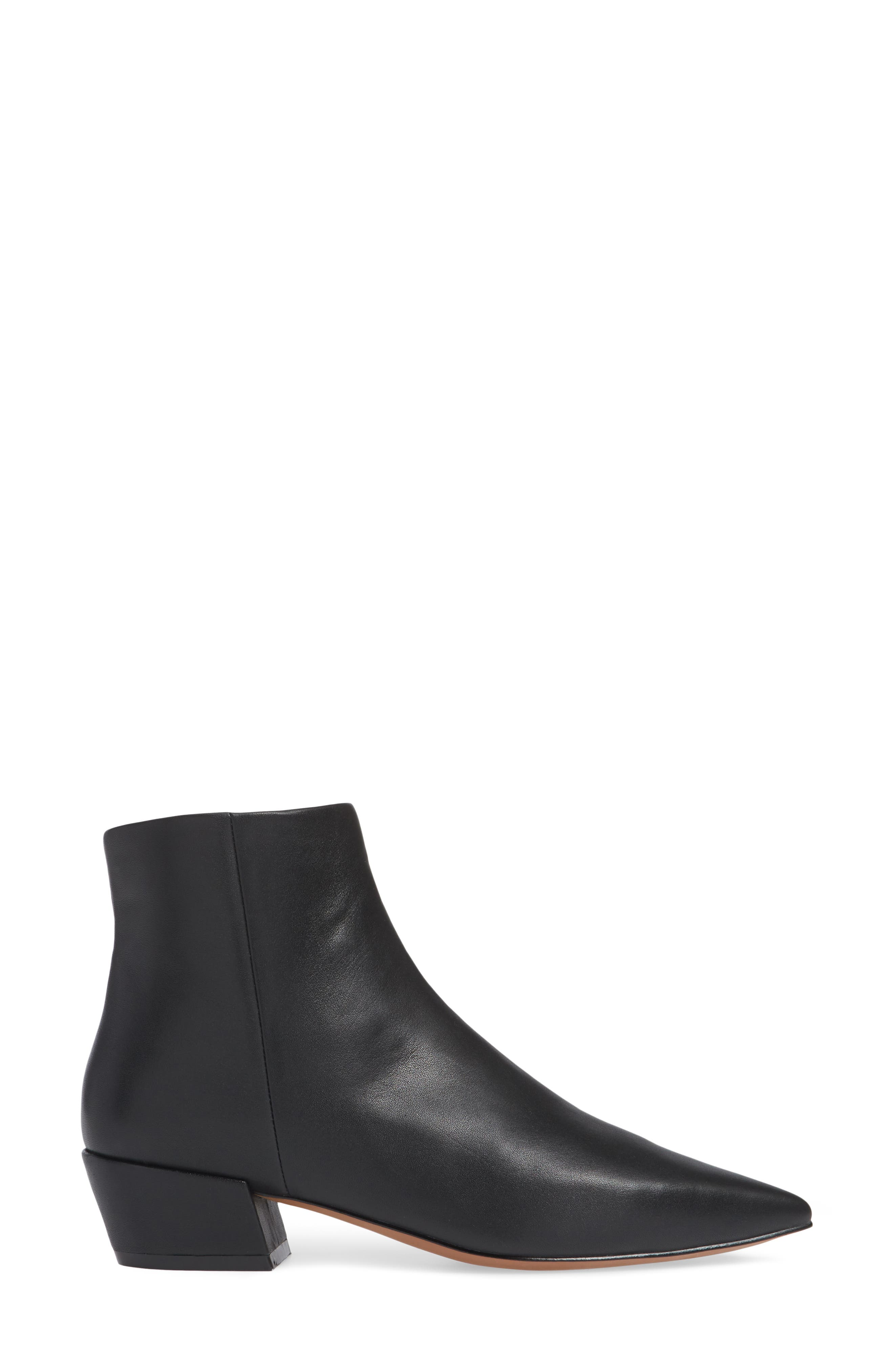LINEA PAOLO, Robyn Waterproof Boot, Alternate thumbnail 3, color, BLACK LEATHER