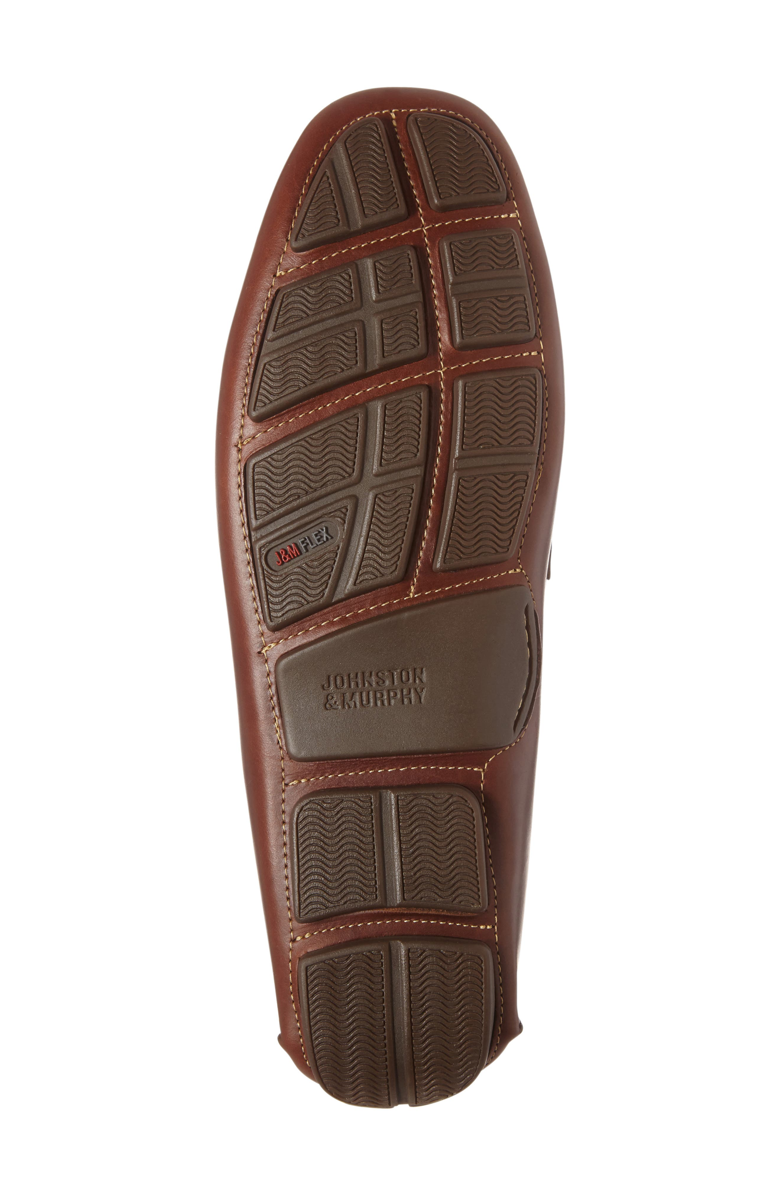 JOHNSTON & MURPHY, Gibson Penny Driving Loafer, Alternate thumbnail 4, color, TAN LEATHER