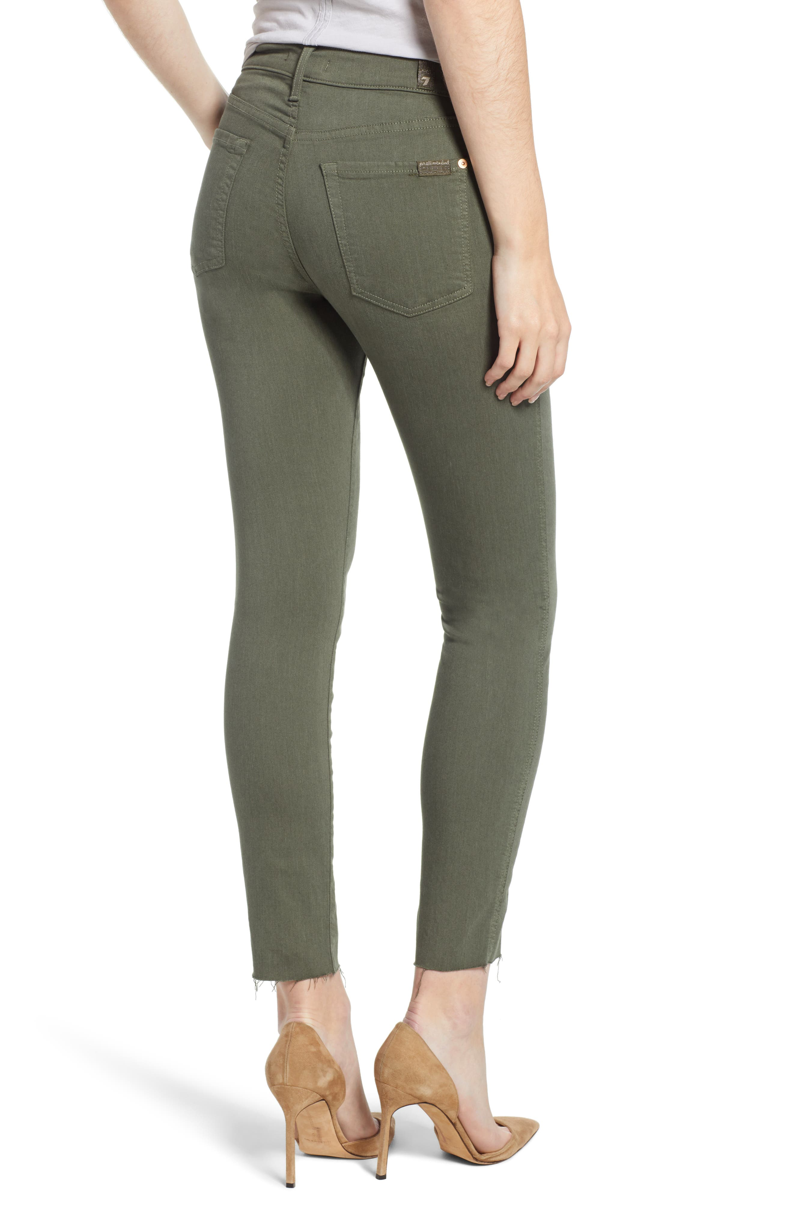 7 FOR ALL MANKIND<SUP>®</SUP>, Roxanne Paneled Ankle Slim Jeans, Alternate thumbnail 2, color, 301