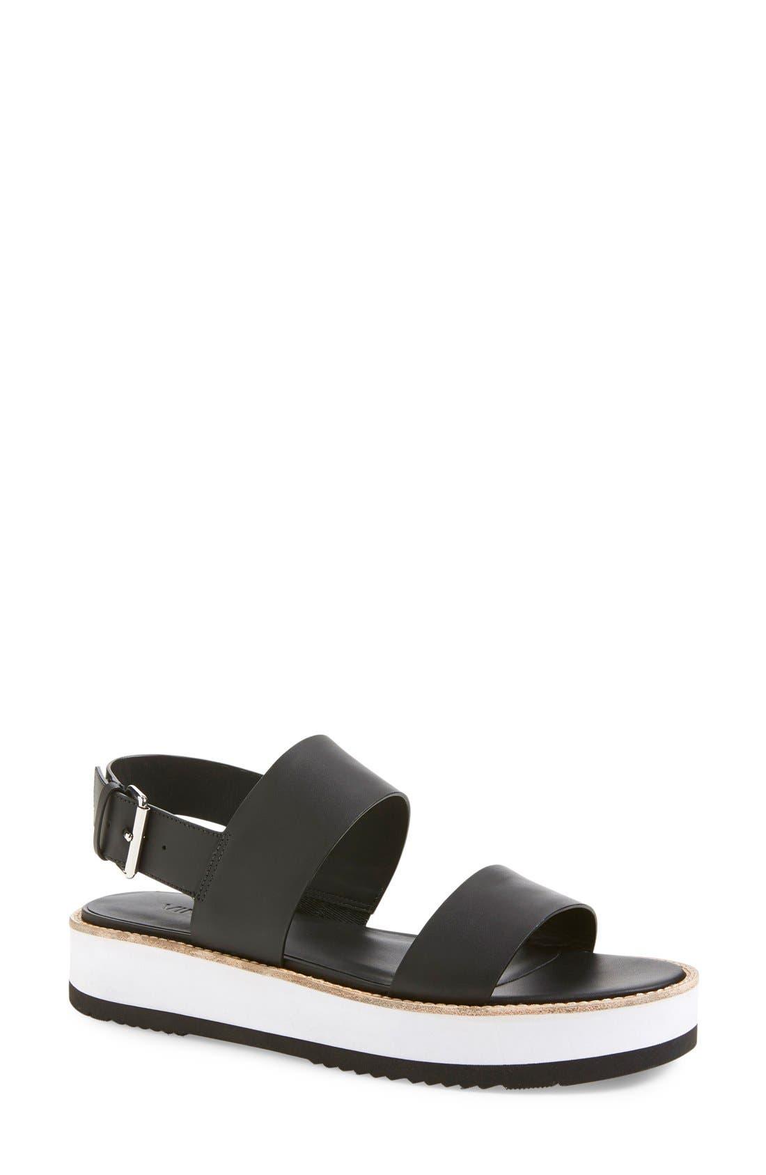 VINCE, 'Mana' Flatform Sandal, Main thumbnail 1, color, 001