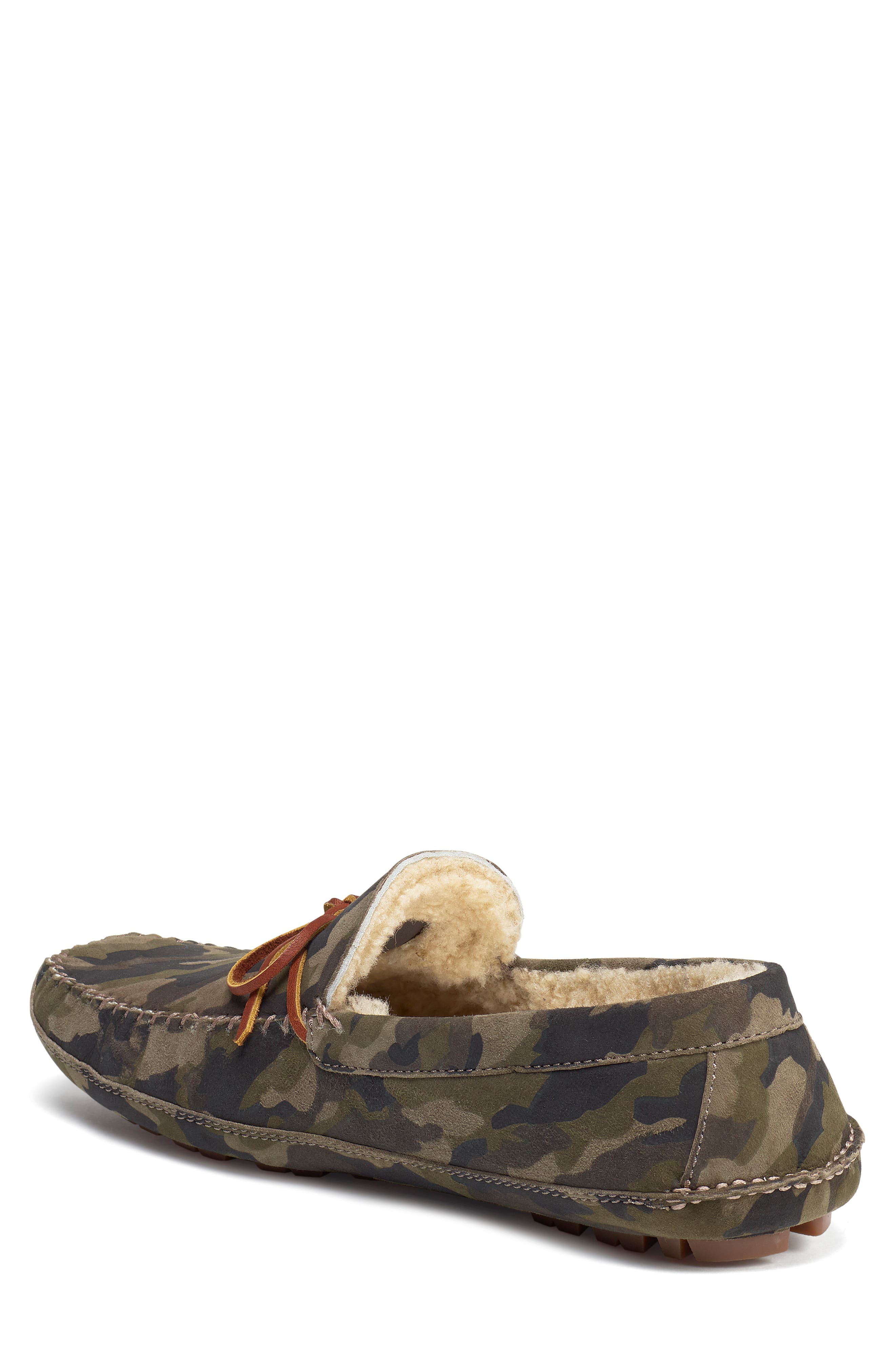 TRASK, 'Polson' Slipper, Alternate thumbnail 2, color, CAMO SUEDE/ SHEARLING