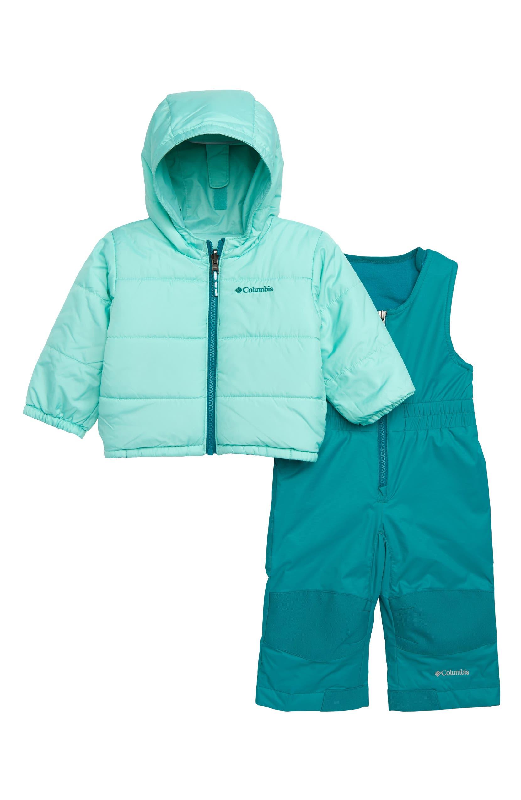 8971bafe2 Columbia Double Flake Waterproof Insulated Jacket & Bib Snowsuit (Baby Girls)    Nordstrom