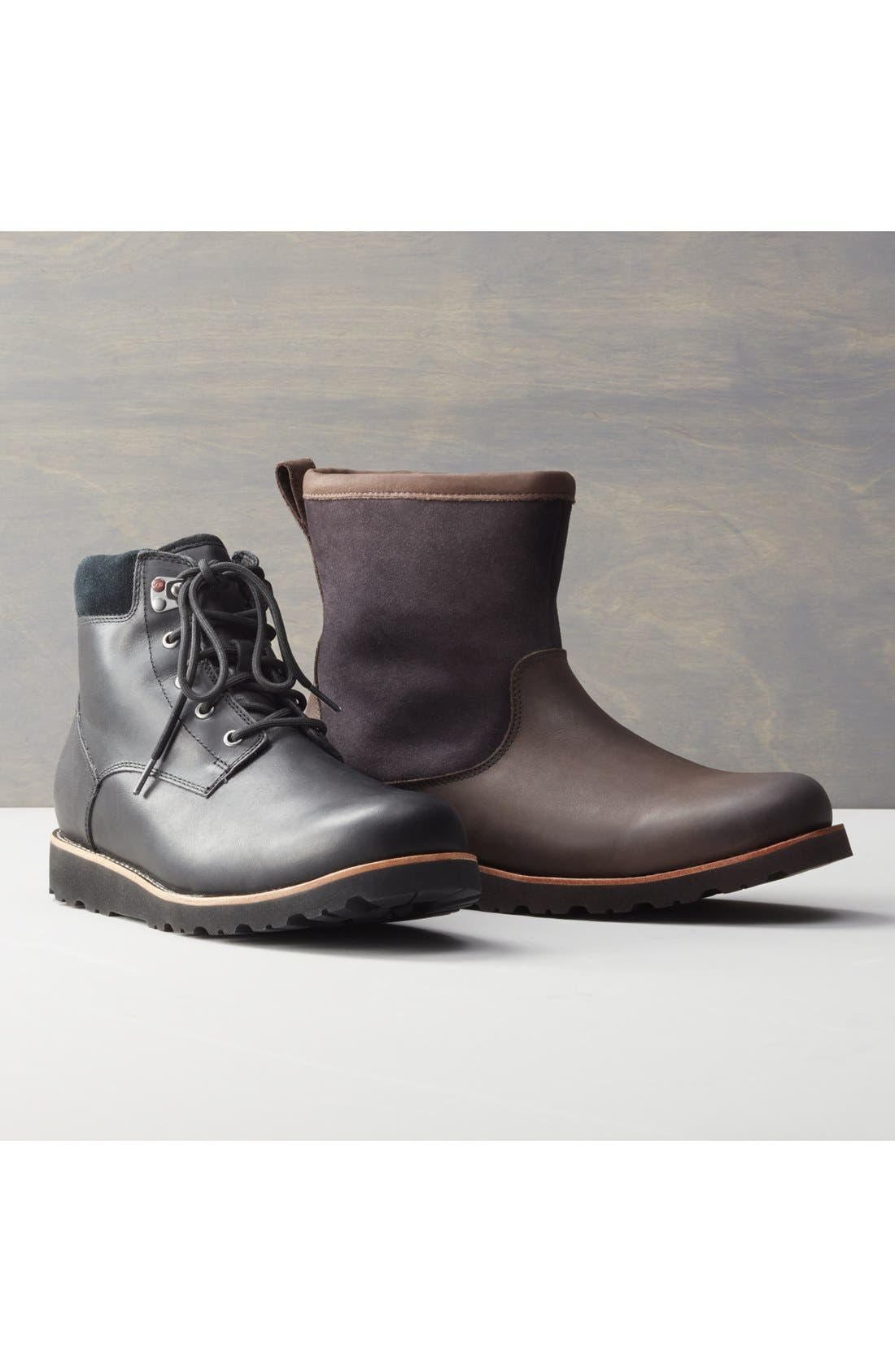 UGG<SUP>®</SUP>, Seton Waterproof Chukka Boot, Alternate thumbnail 6, color, STOUT