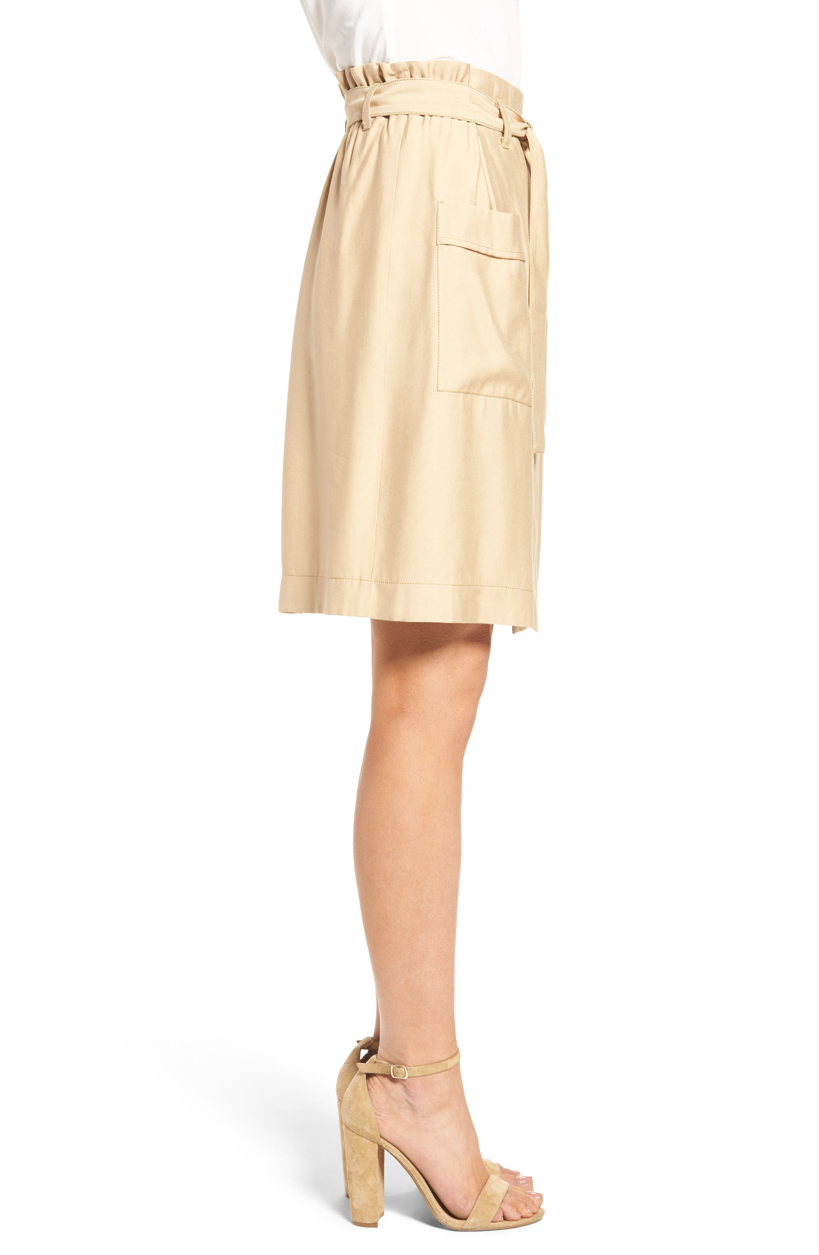 CATHERINE CATHERINE MALANDRINO, Tyra Belted Skirt, Alternate thumbnail 3, color, 283