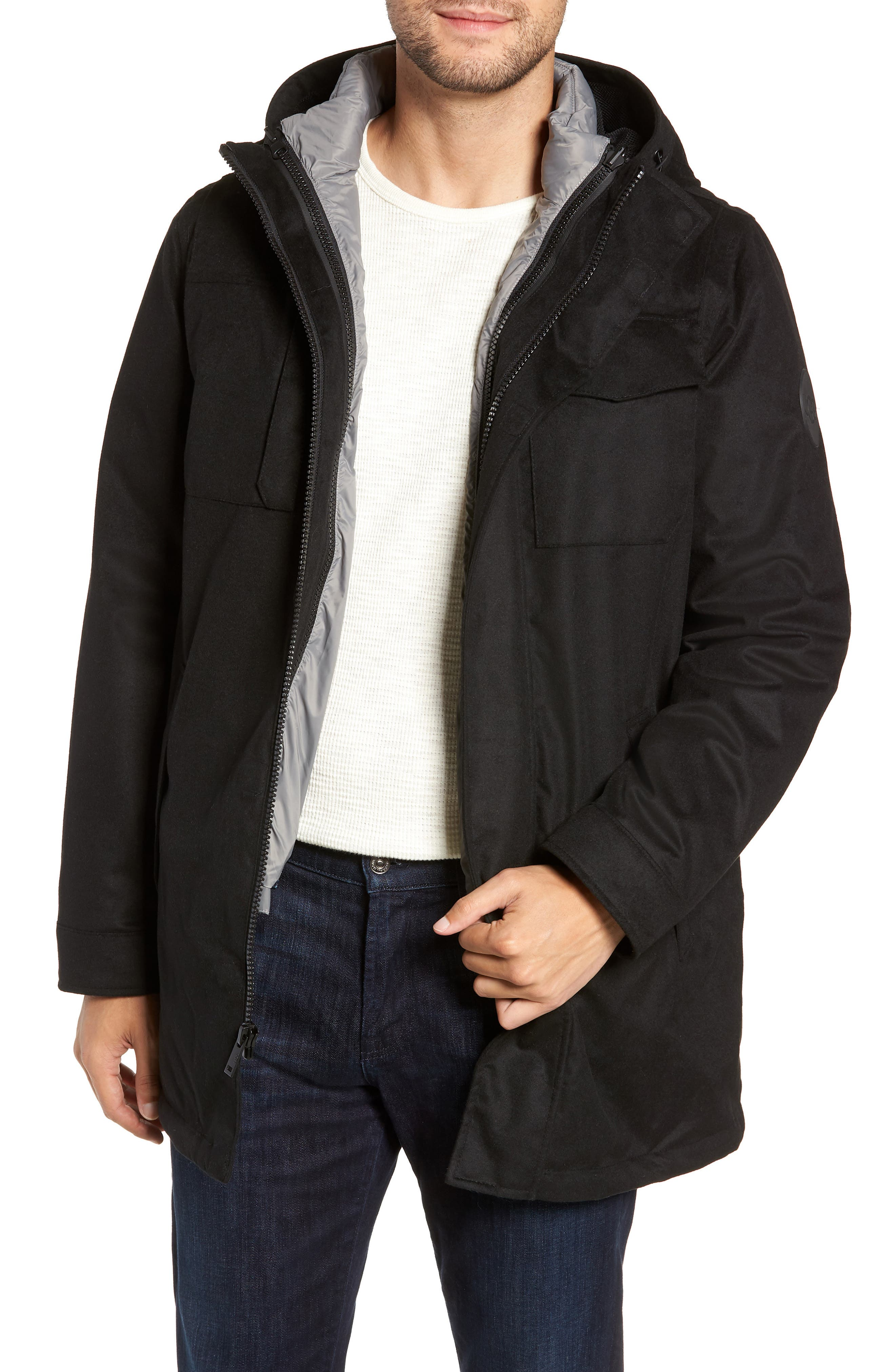 UGG<SUP>®</SUP> Copeland 3-in-1 Parka, Main, color, BLACK