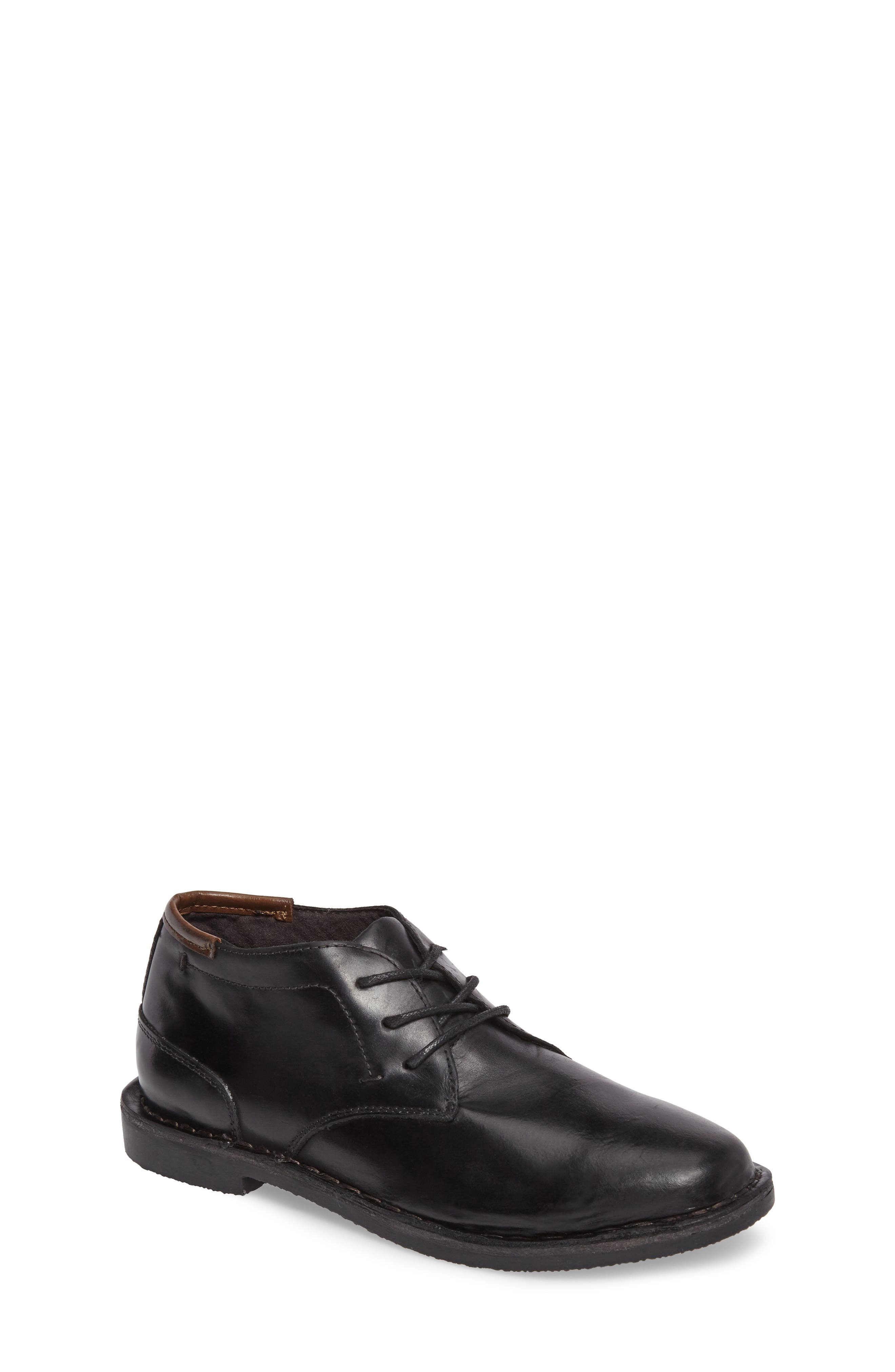 KENNETH COLE NEW YORK, Real Deal Chukka Boot, Main thumbnail 1, color, BLACK LEATHER