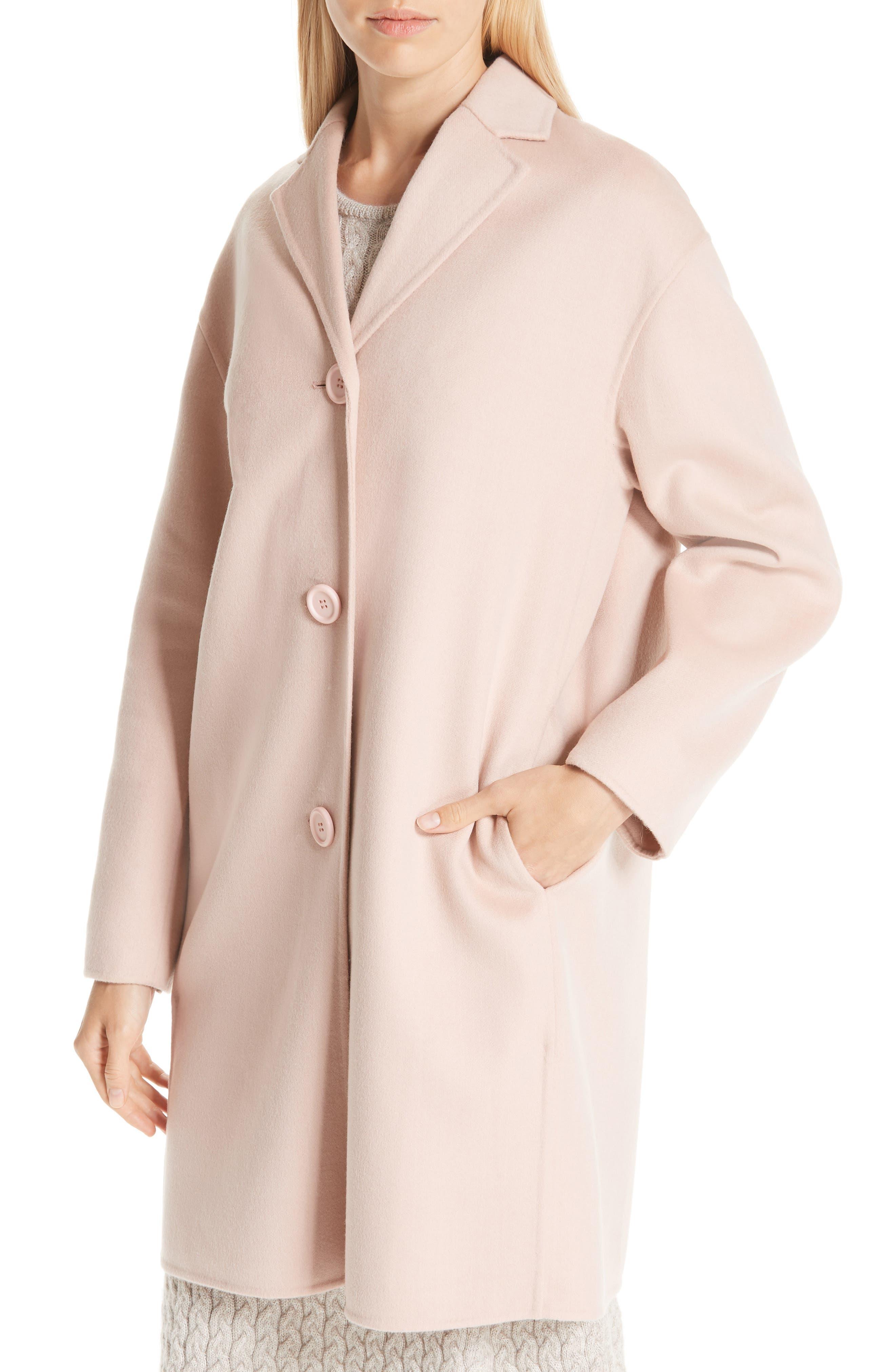 MANSUR GAVRIEL, Wool & Cashmere Coat, Alternate thumbnail 4, color, 650
