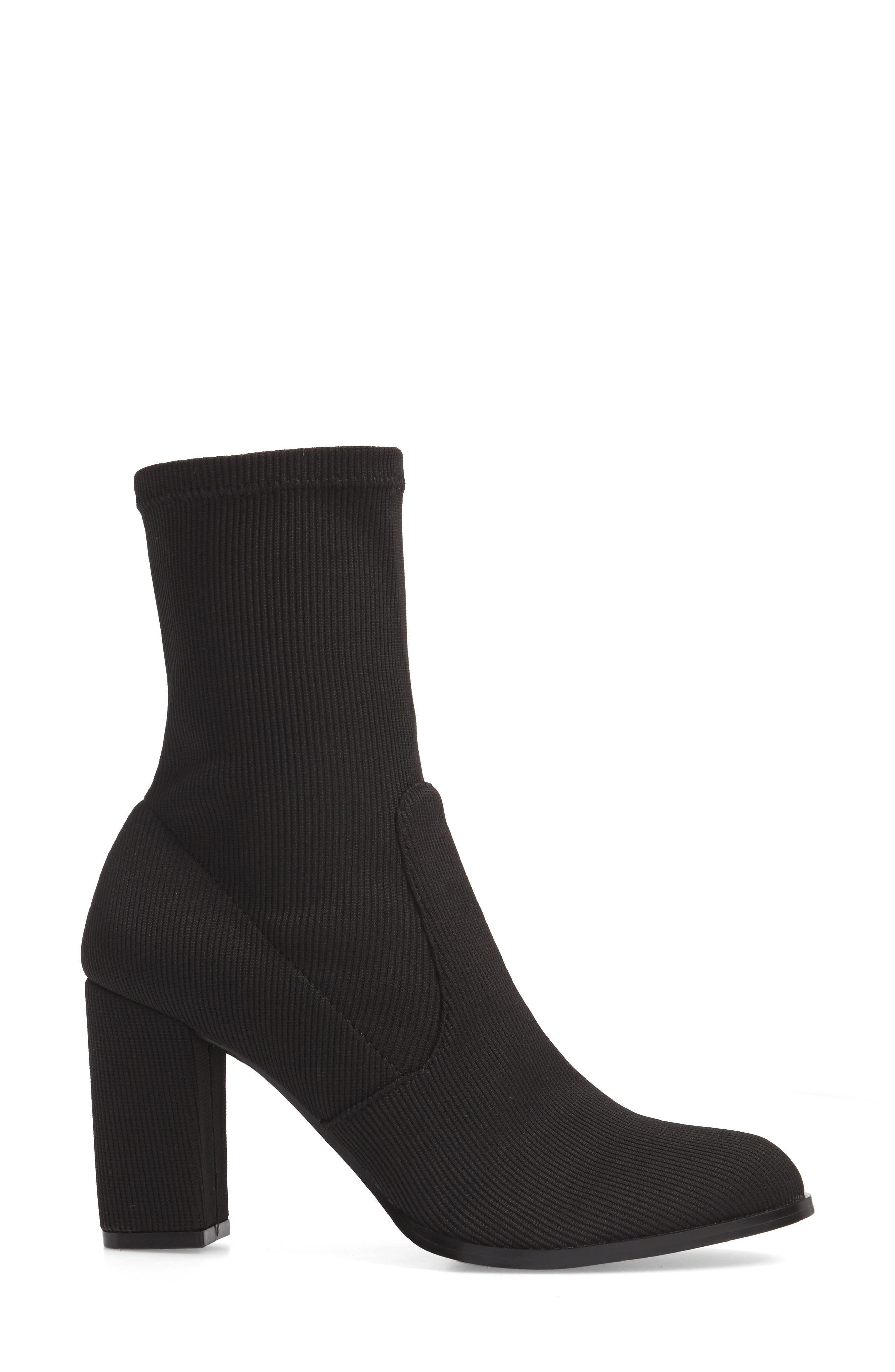 CHINESE LAUNDRY, Craze Bootie, Alternate thumbnail 3, color, BLACK FABRIC