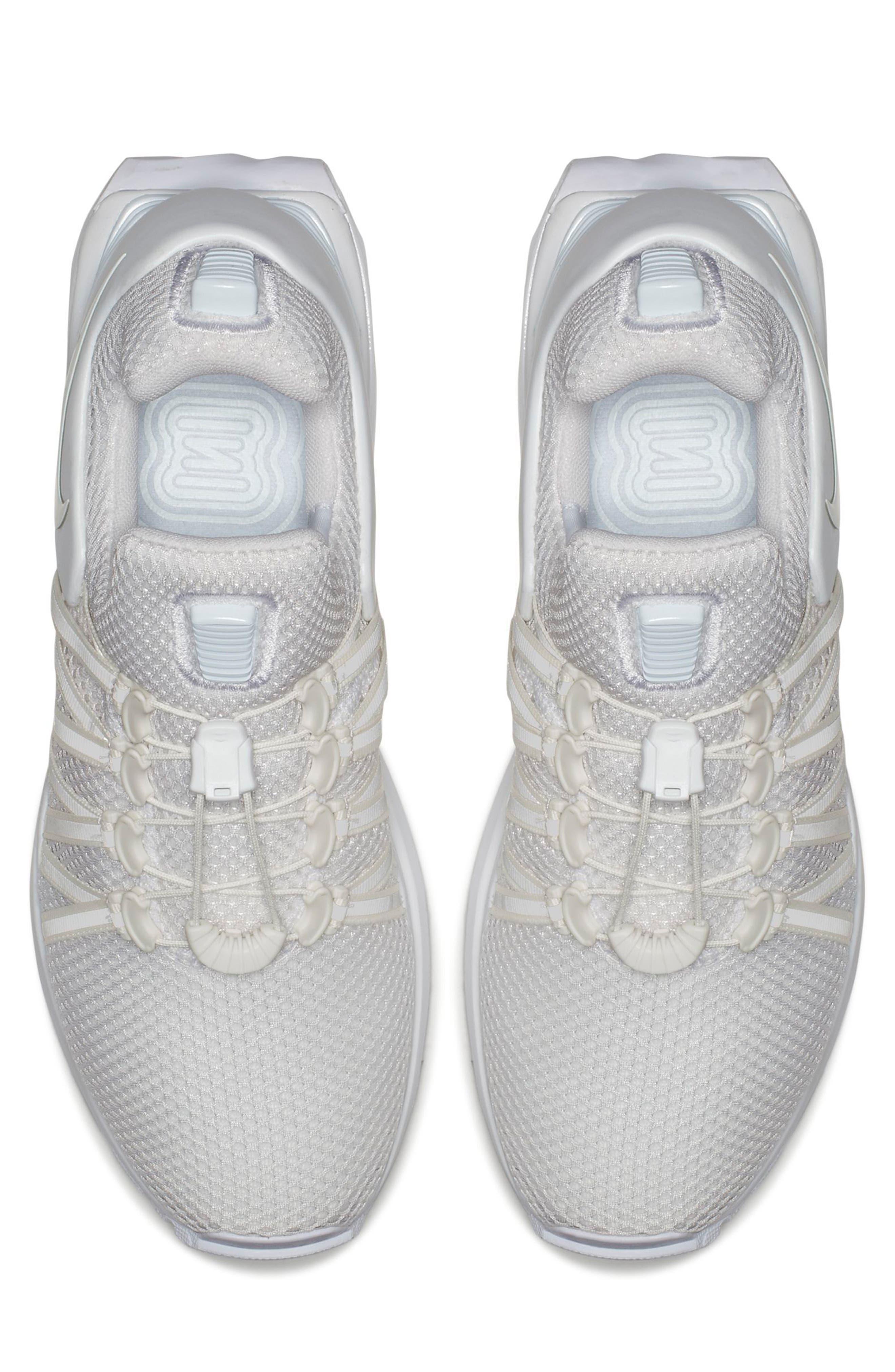 NIKE, Shox Gravity Sneaker, Alternate thumbnail 4, color, 100