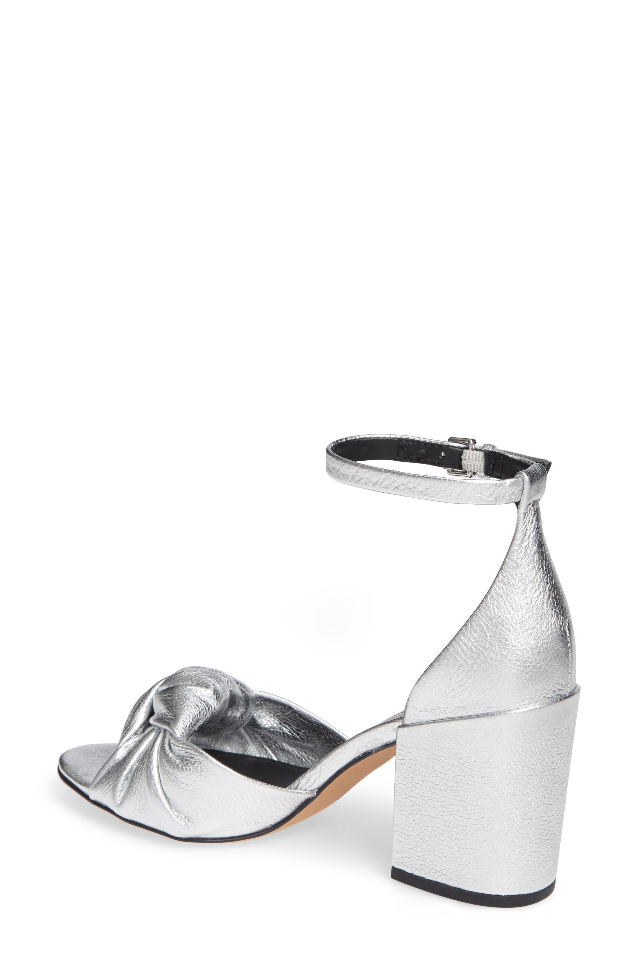 REBECCA MINKOFF, Capriana Ankle Strap Sandal, Alternate thumbnail 2, color, SILVER LEATHER