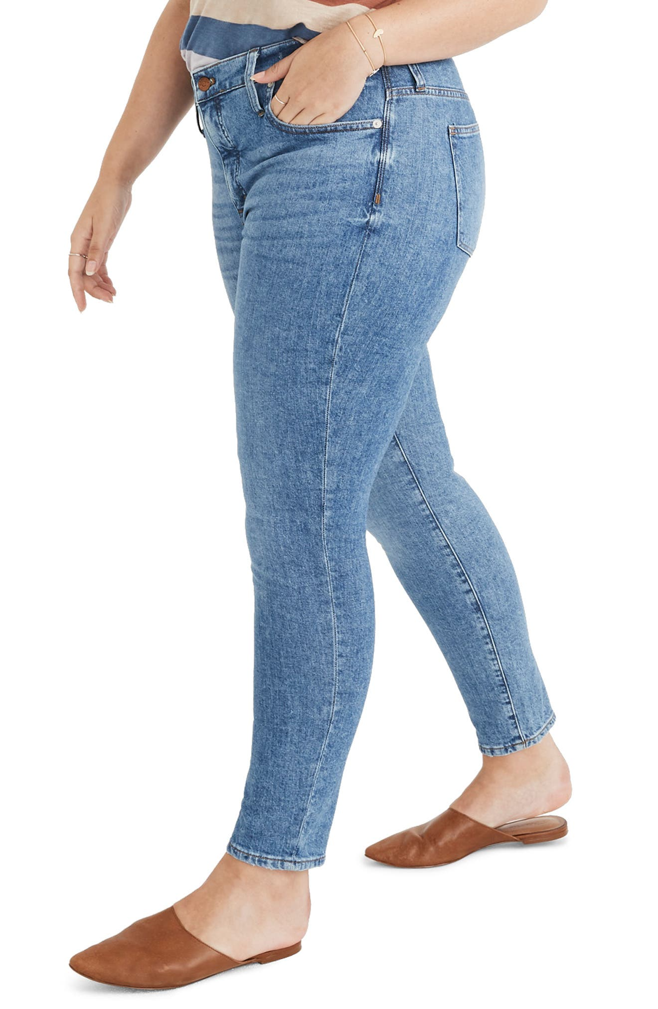 MADEWELL, 9-Inch High Waist Stretch Skinny Jeans, Alternate thumbnail 8, color, REGINA