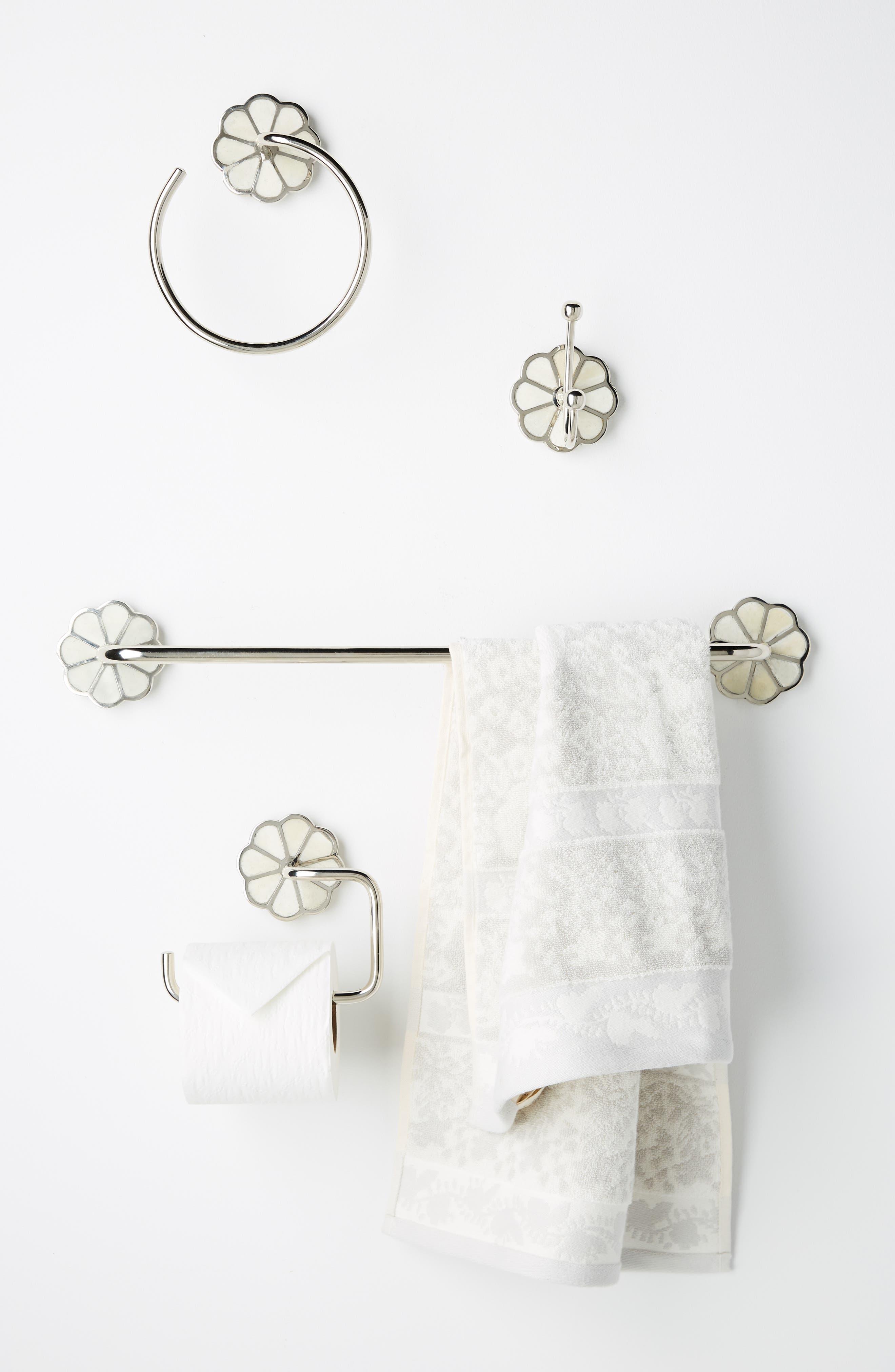 ANTHROPOLOGIE, Botanist Towel Ring, Alternate thumbnail 3, color, 040