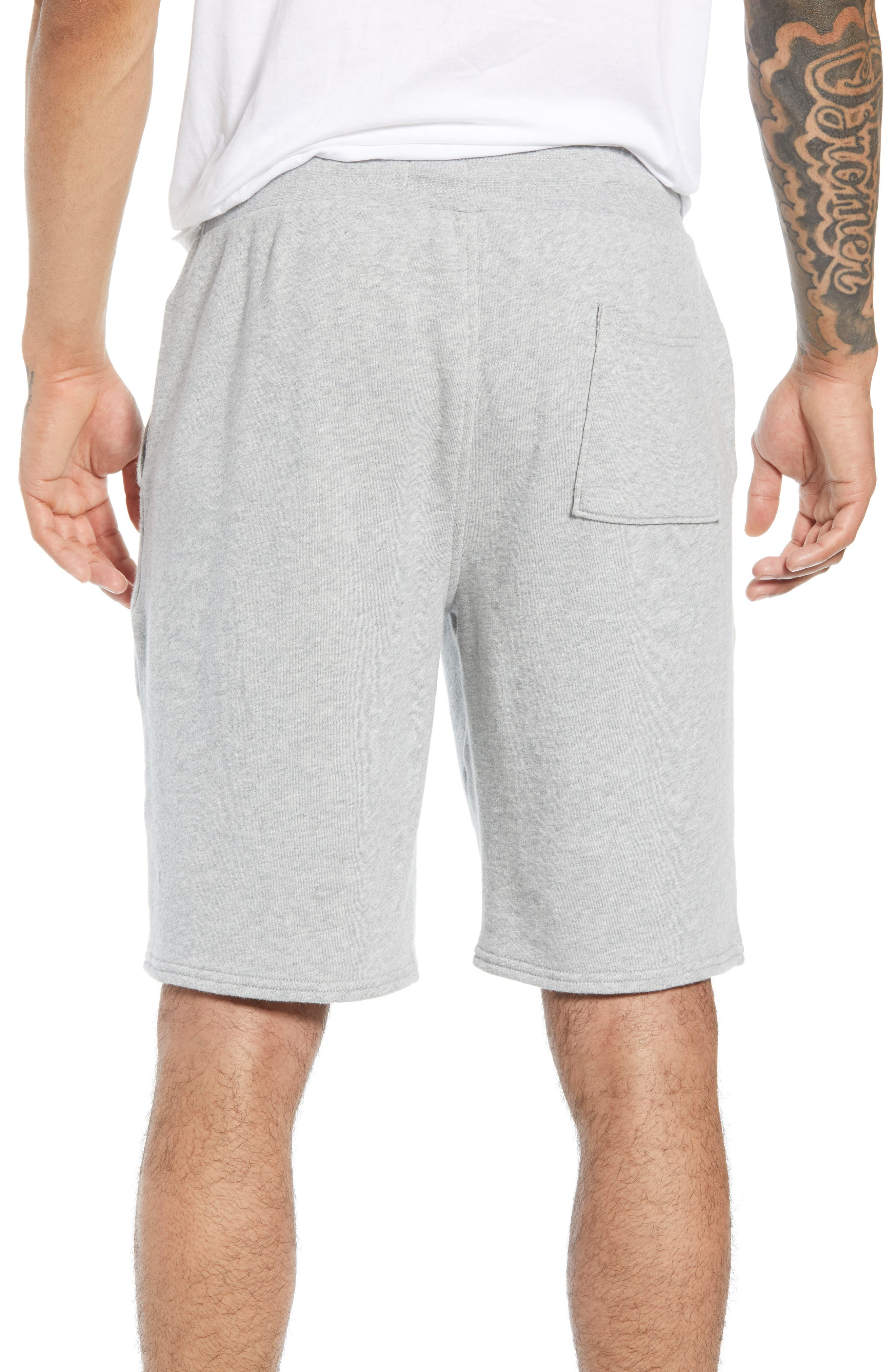 THE RAIL, Heathered Athletic Shorts, Alternate thumbnail 2, color, 050