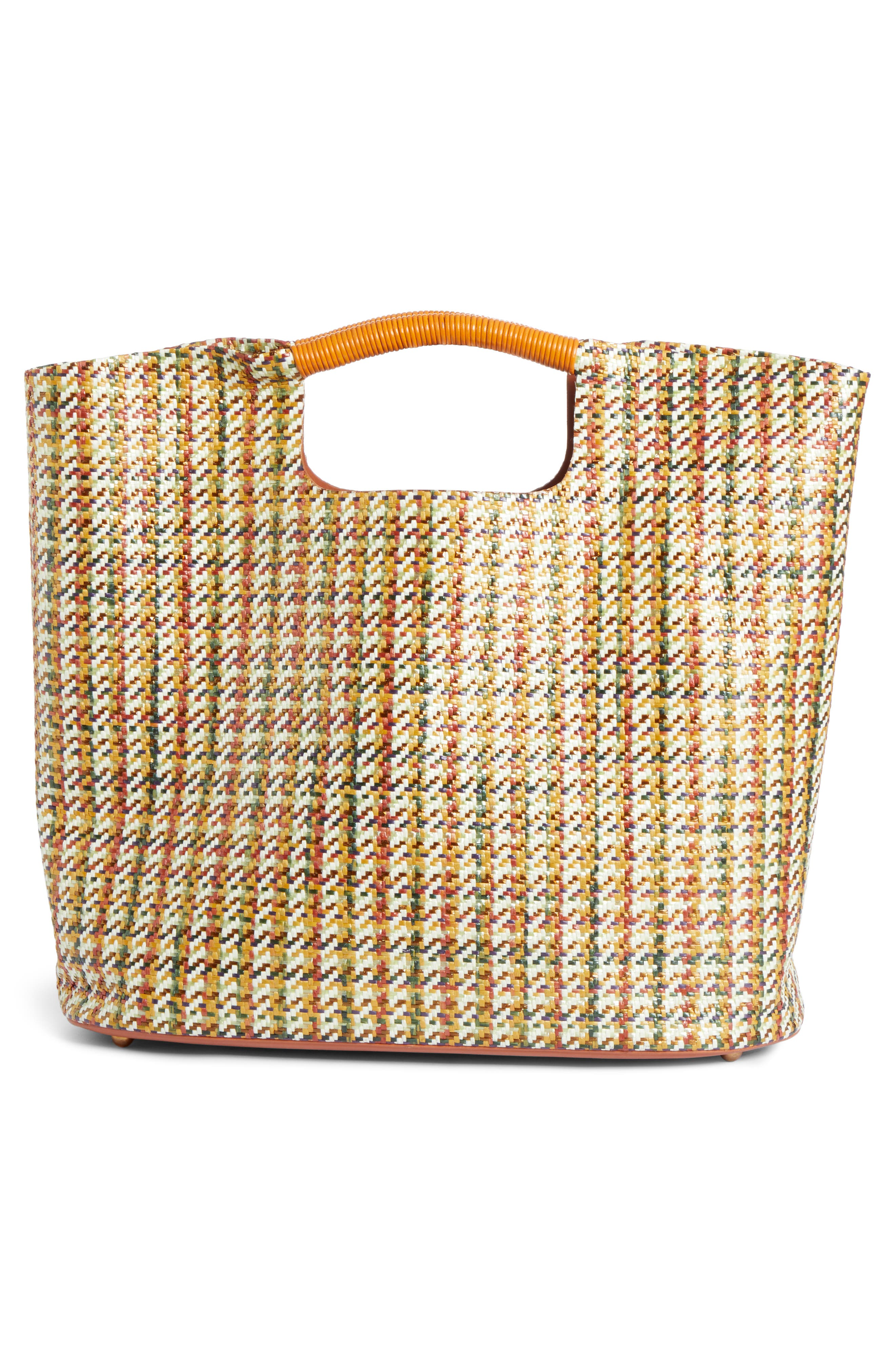 SIMON MILLER, Large Birch Houndstooth Tote, Alternate thumbnail 3, color, 200