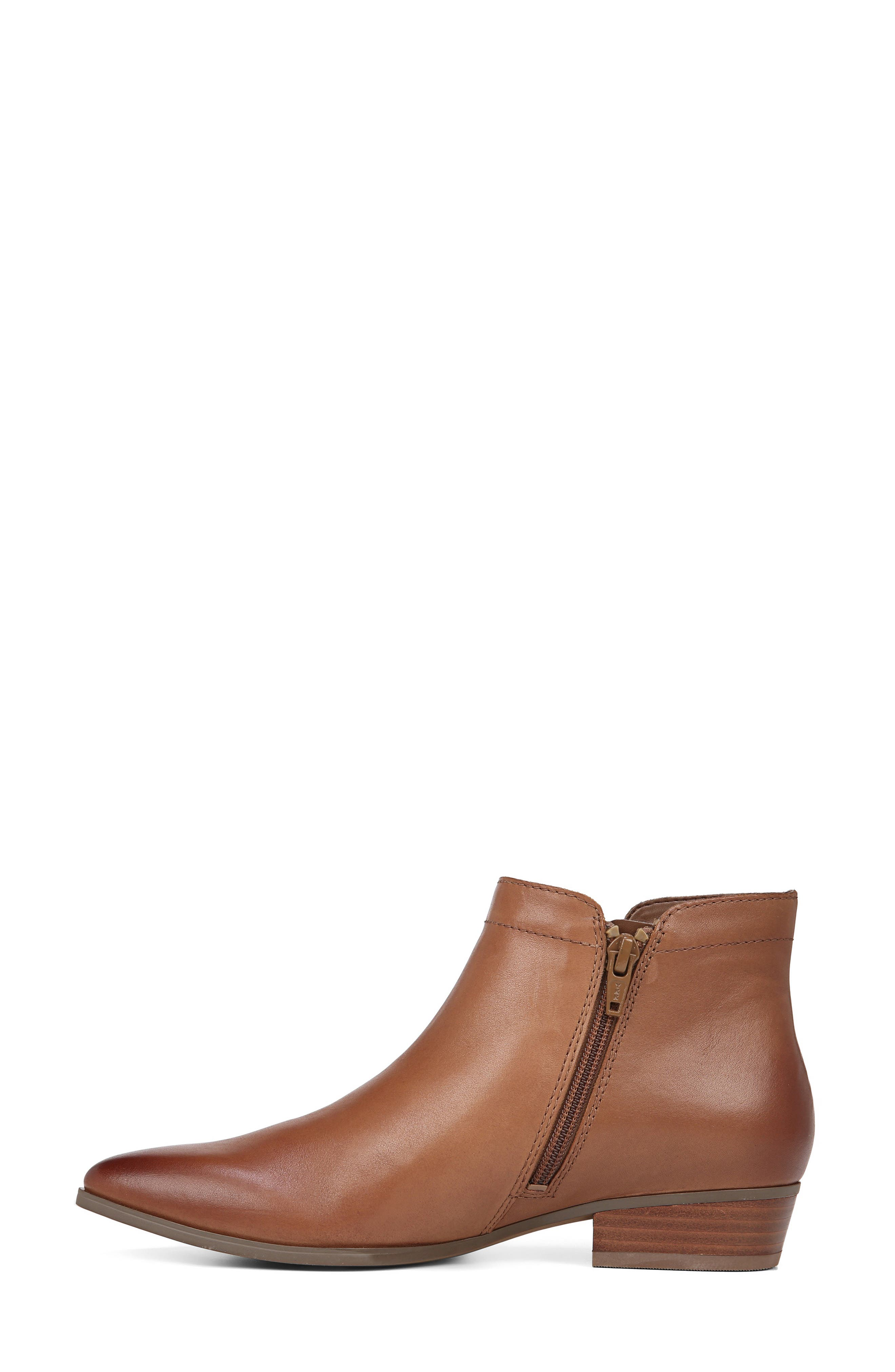 NATURALIZER, Blair Bootie, Alternate thumbnail 6, color, BANANA BREAD LEATHER