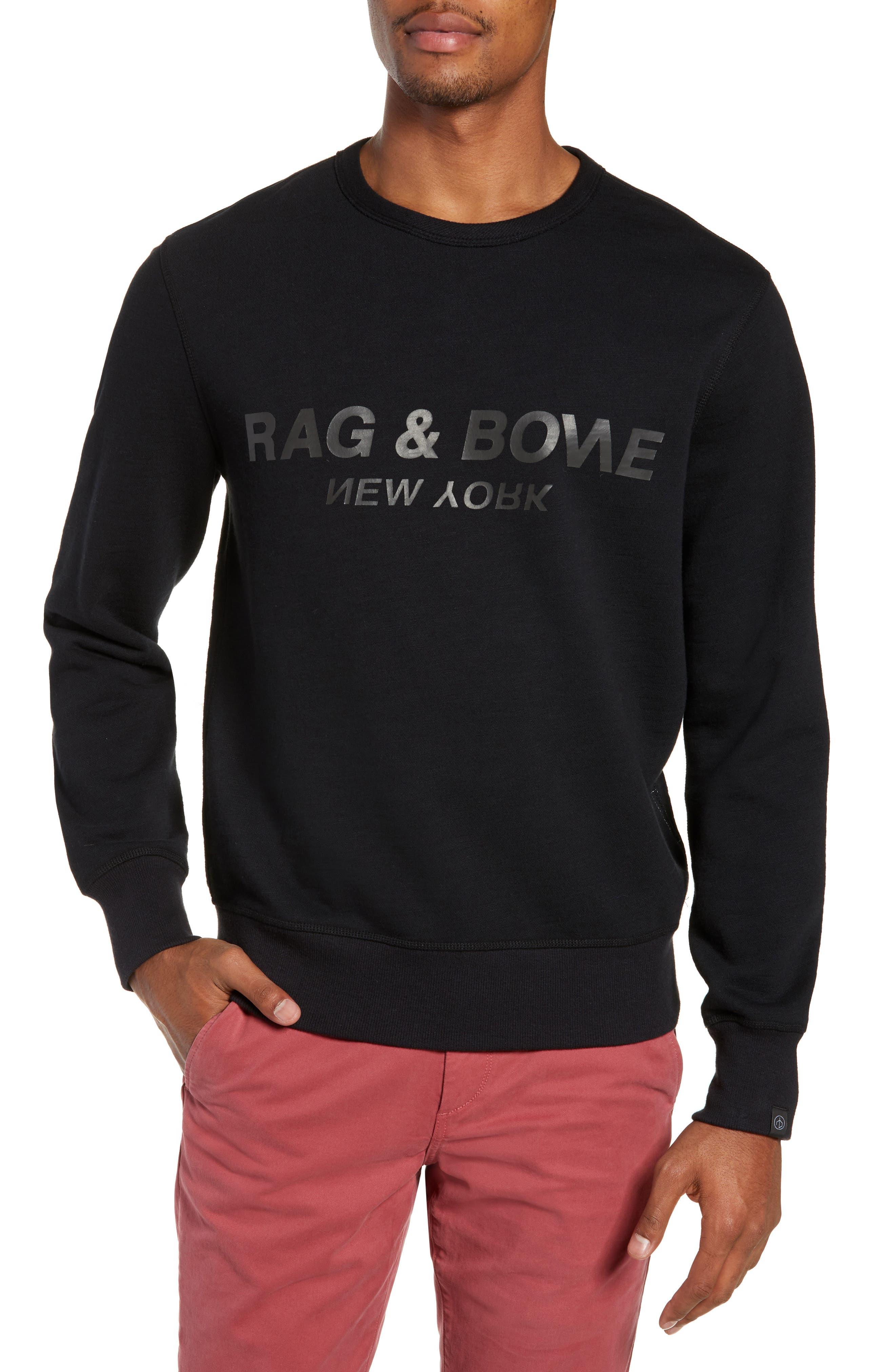RAG & BONE, Regular Upside Down Sweatshirt, Main thumbnail 1, color, 001