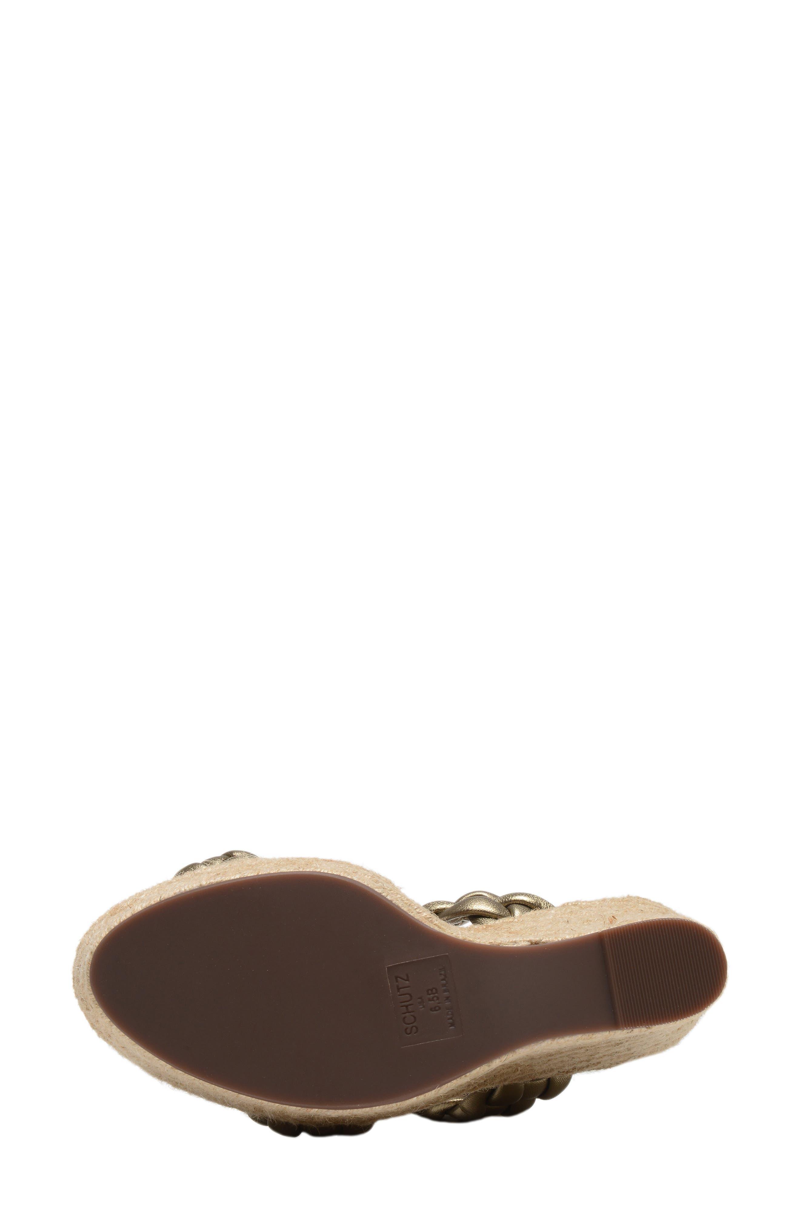 SCHUTZ, Dyandre Platform Wedge Slide Sandal, Alternate thumbnail 6, color, ALE WASH