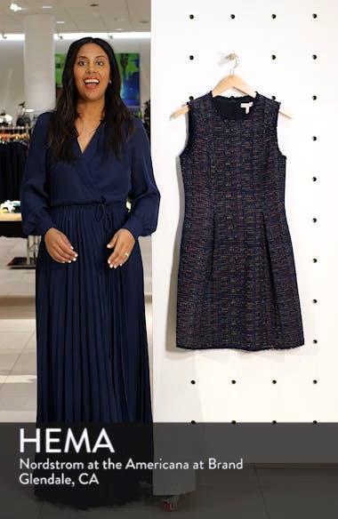 Rainbow Tweed Fit & Flare Dress, sales video thumbnail