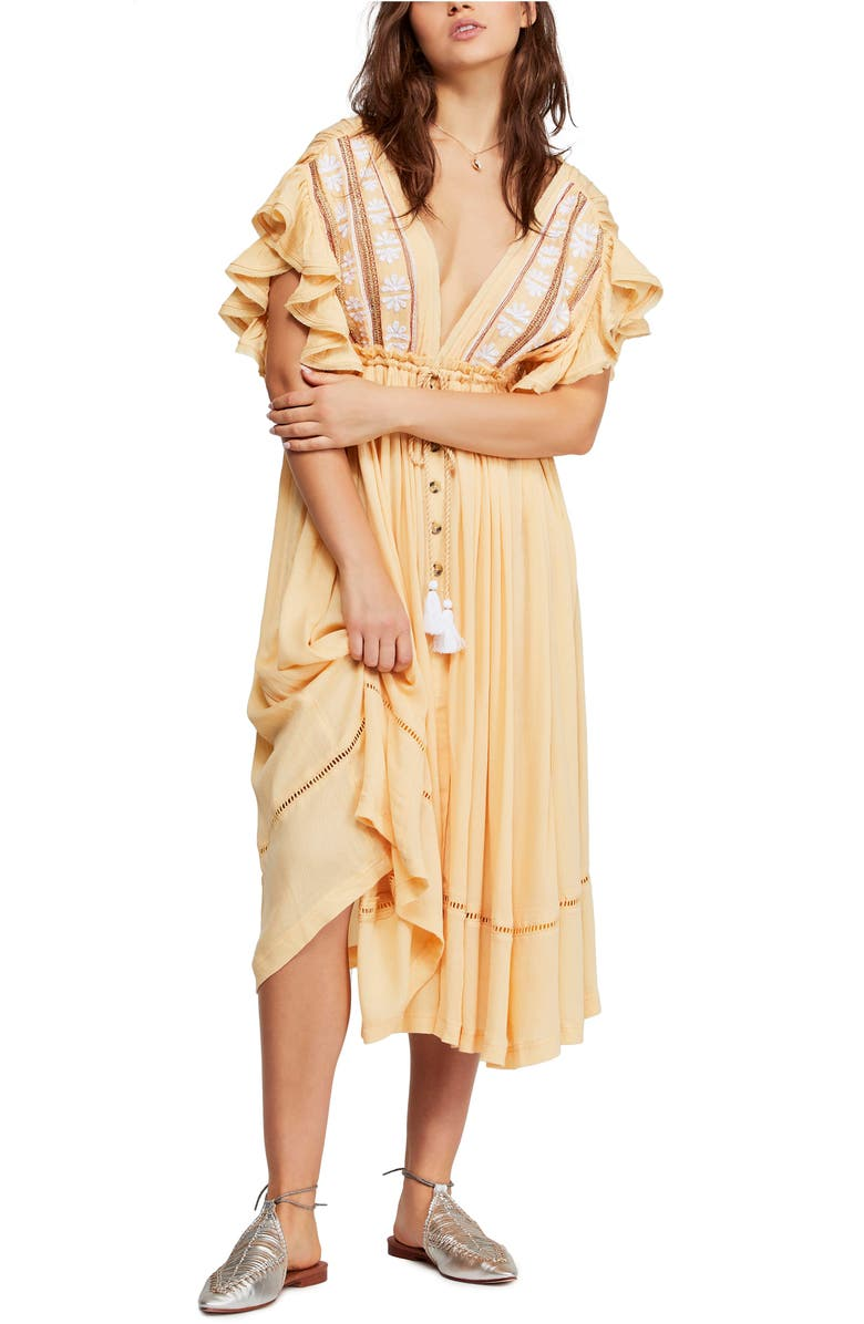 Free People Dresses WILL WAIT FOR YOU MIDI DRESS