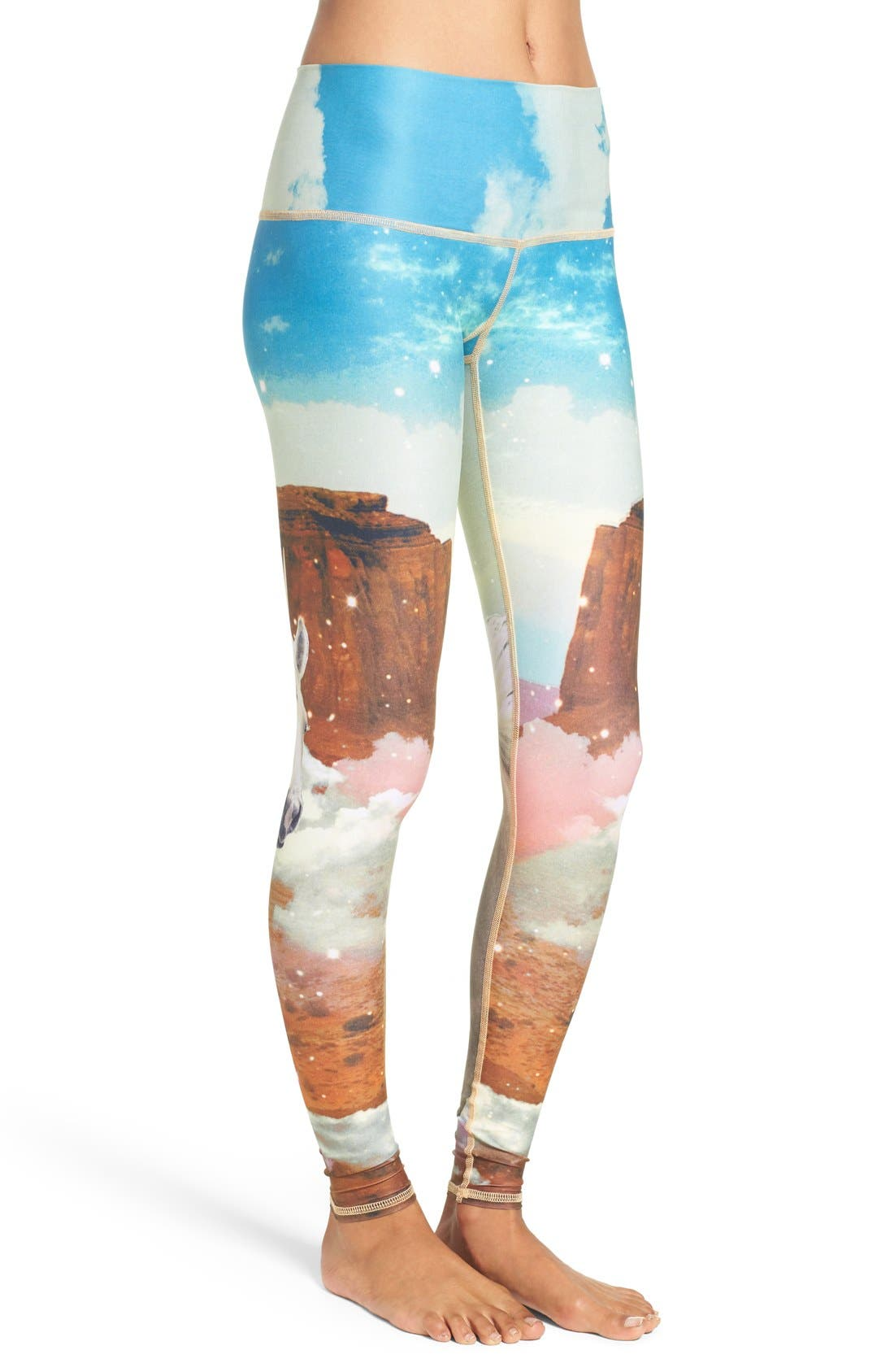 TEEKI, Unicorn Wrangler Hot Pant Leggings, Alternate thumbnail 3, color, 400