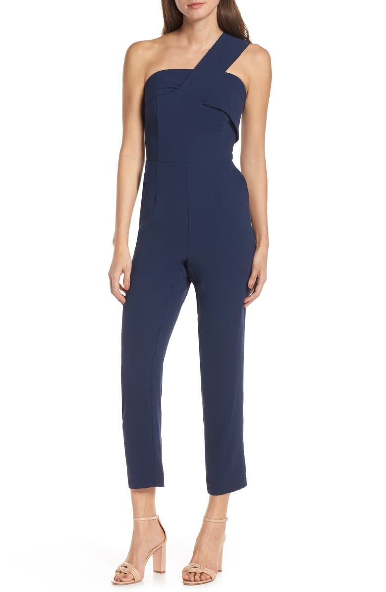 Adelyn Rae Brooklyn One-Shoulder Jumpsuit