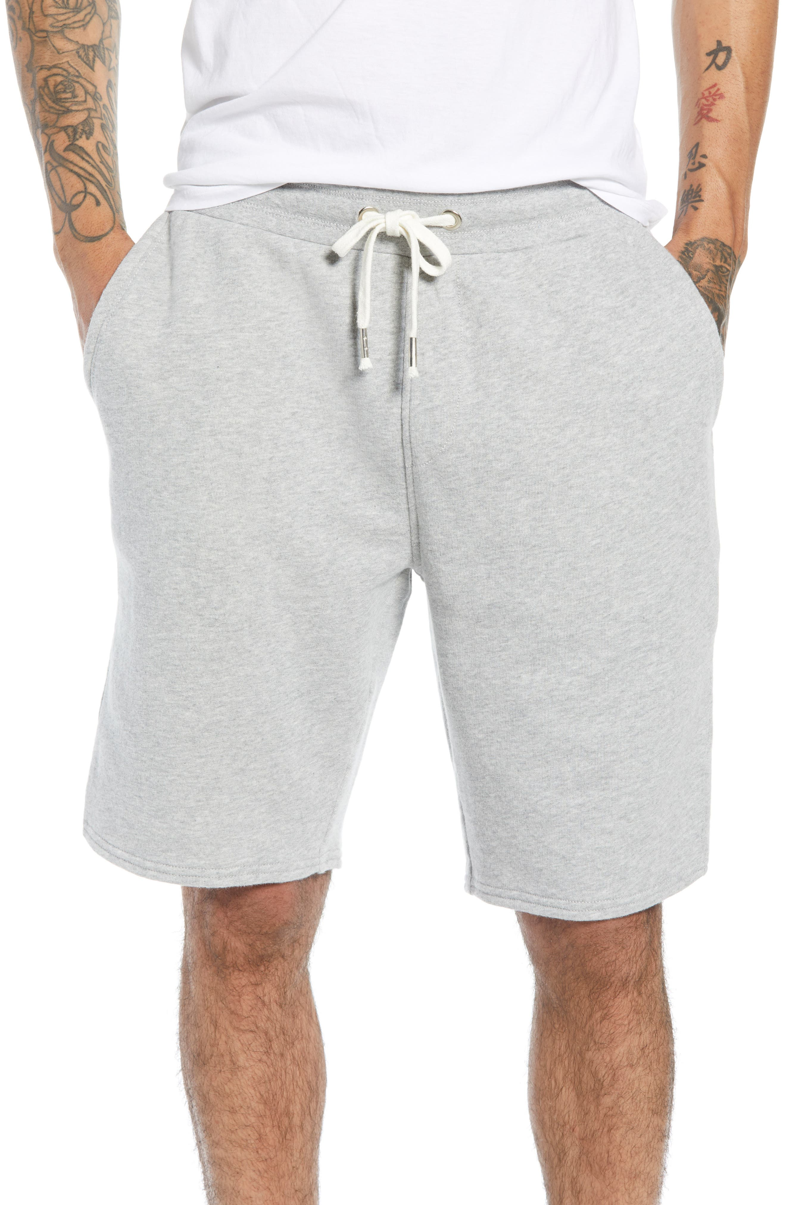 THE RAIL Heathered Athletic Shorts, Main, color, 050