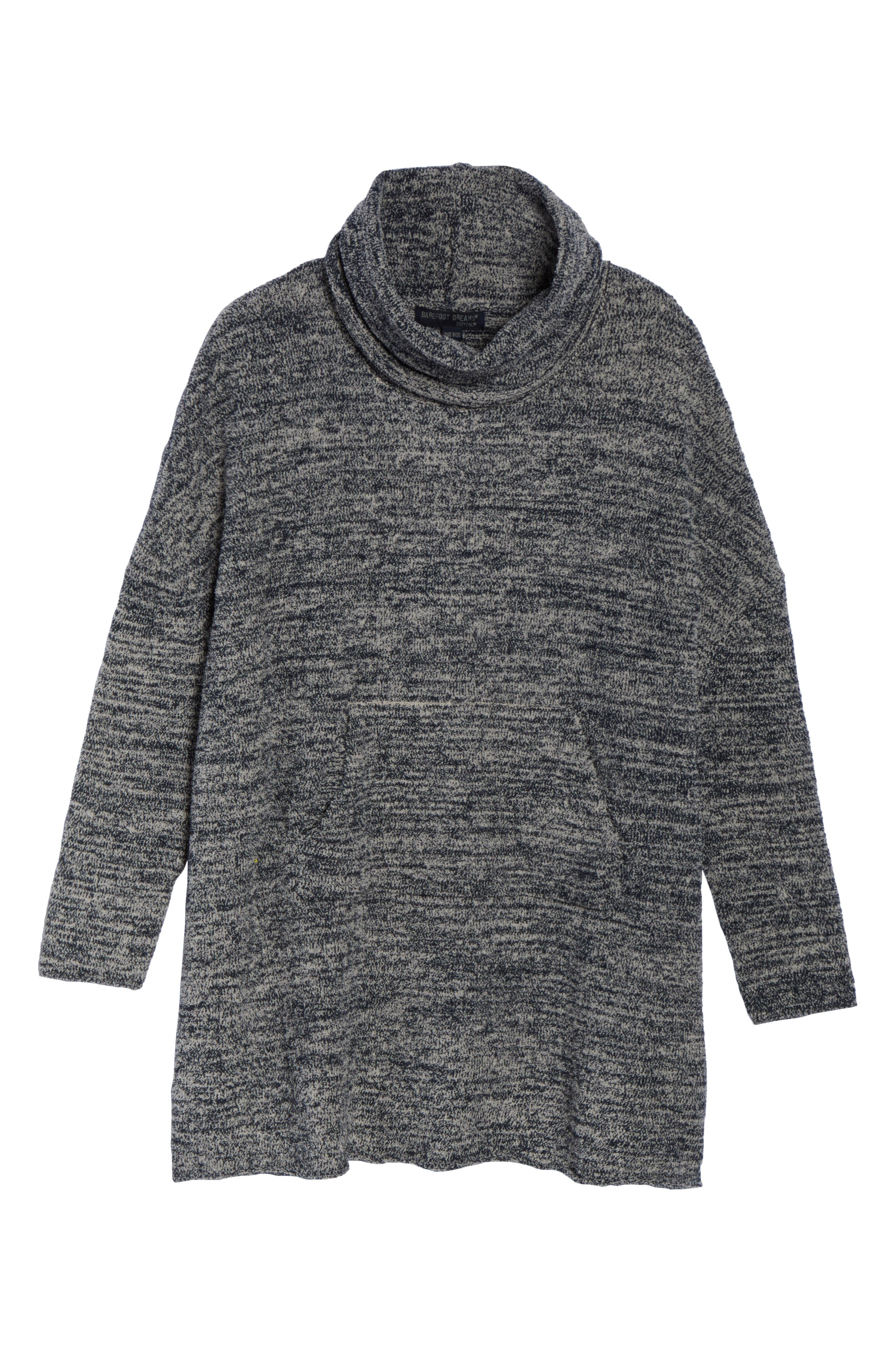 BAREFOOT DREAMS<SUP>®</SUP>, Cozychic<sup>®</sup> Lounge Pullover, Alternate thumbnail 6, color, INDIGO/ STONE HEATHERED