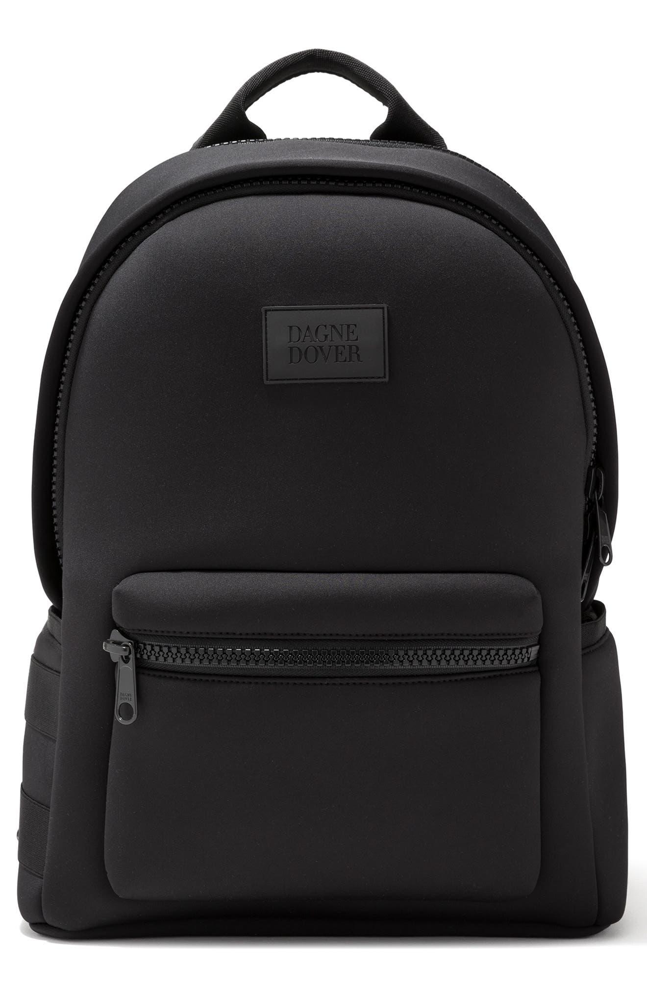 DAGNE DOVER Large Dakota Neoprene Backpack, Main, color, ONYX