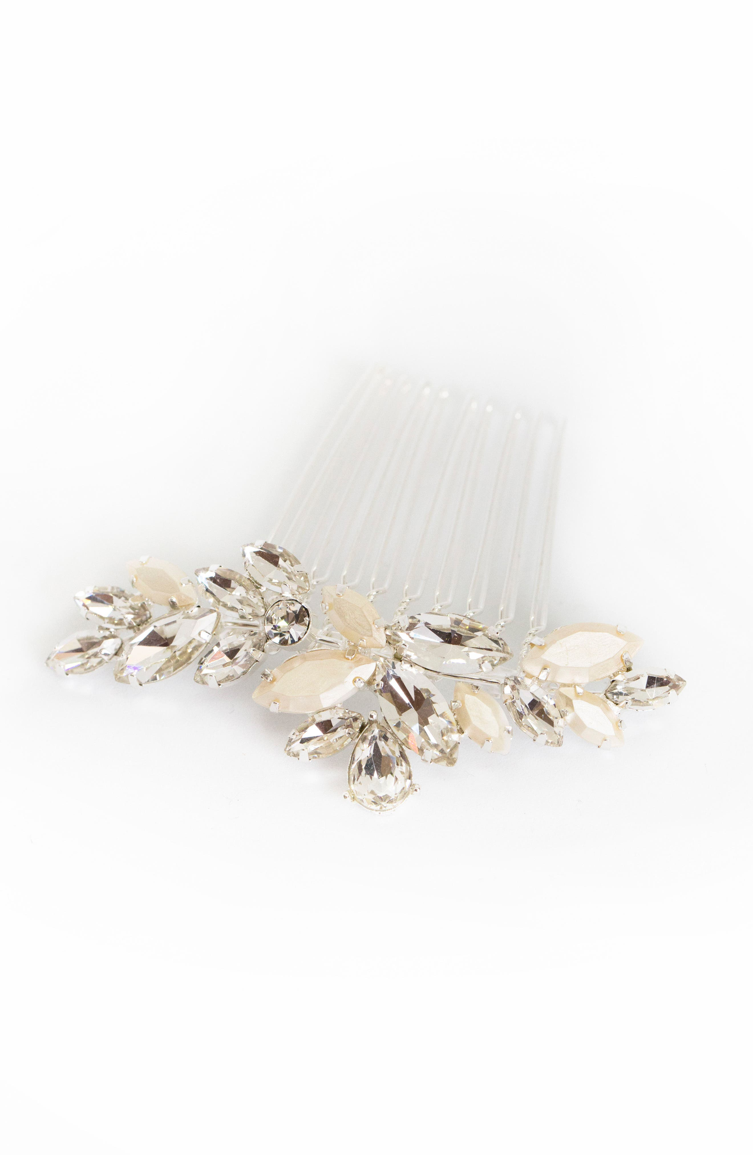 BRIDES & HAIRPINS, Abril Comb, Alternate thumbnail 5, color, CLASSIC SILVER