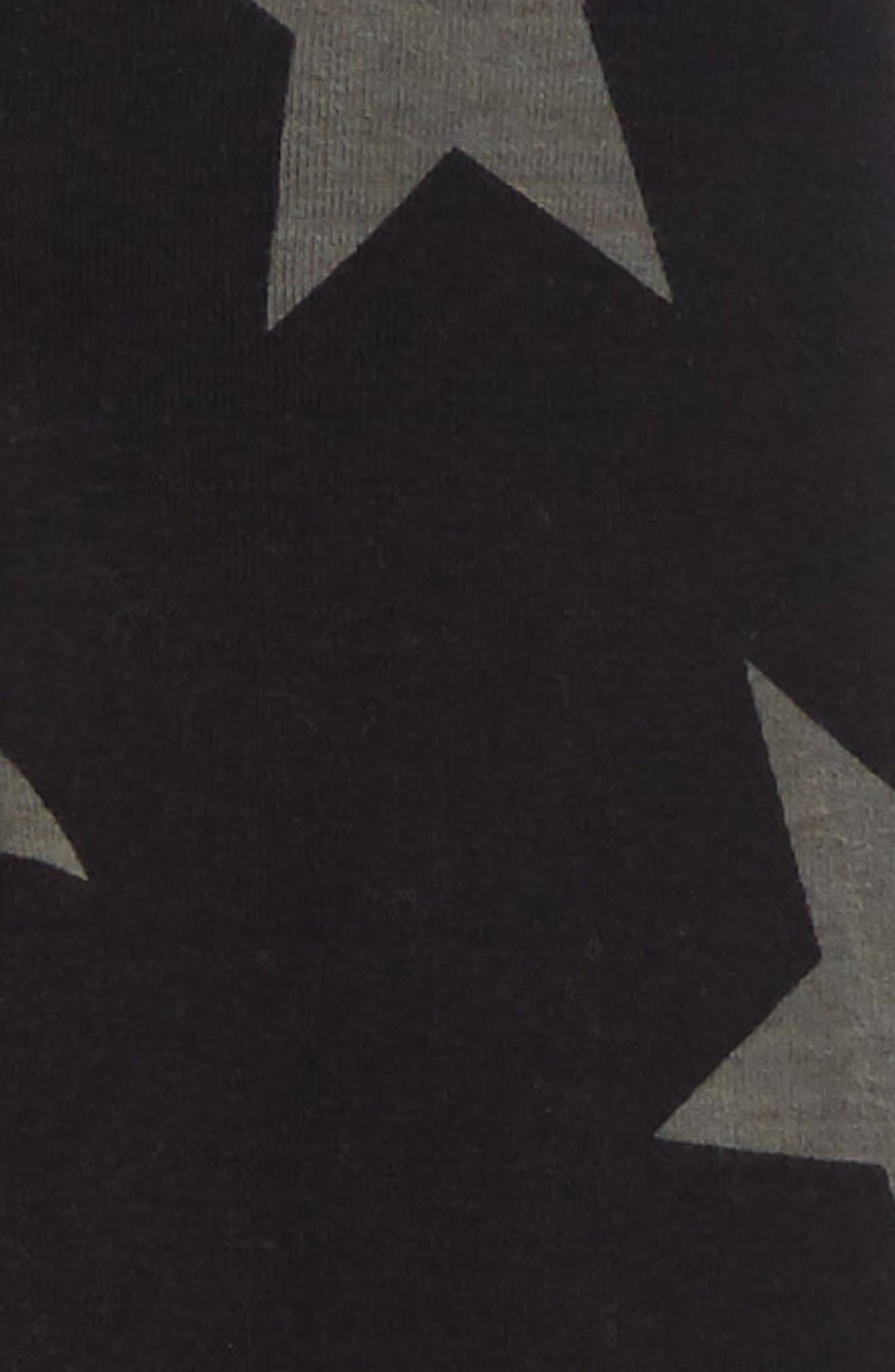 NUNUNU, Star Print Leggings, Alternate thumbnail 2, color, BLACK