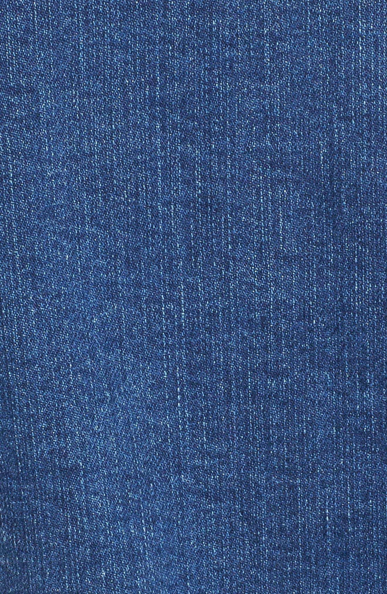 SLINK JEANS, Fray Crop Jacket, Alternate thumbnail 6, color, 495